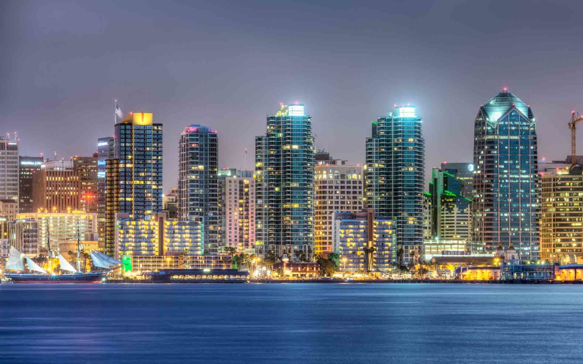 1920x1200 San Diego Skyline Wallpapers Â« Beach & Travels Â« HD Wallpapers