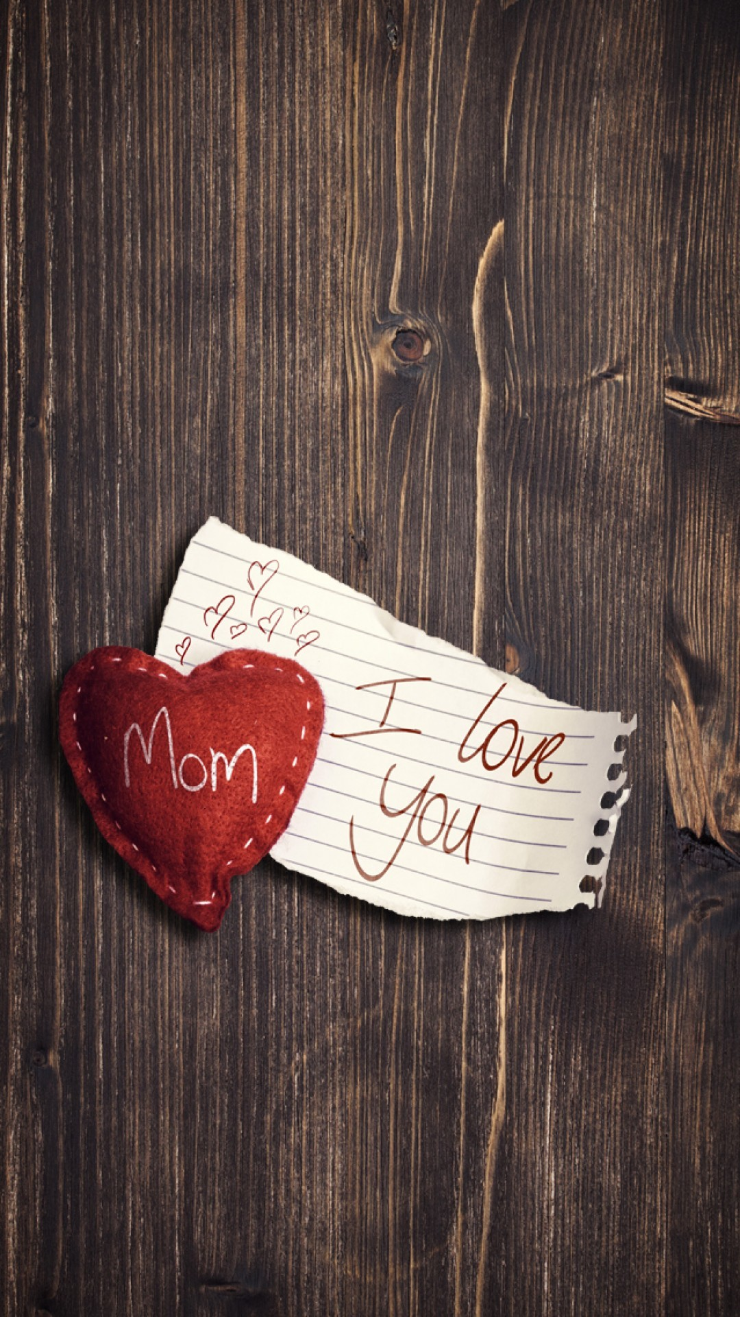 1080x1920 ... i love you mom wood background android wallpaper free download ...