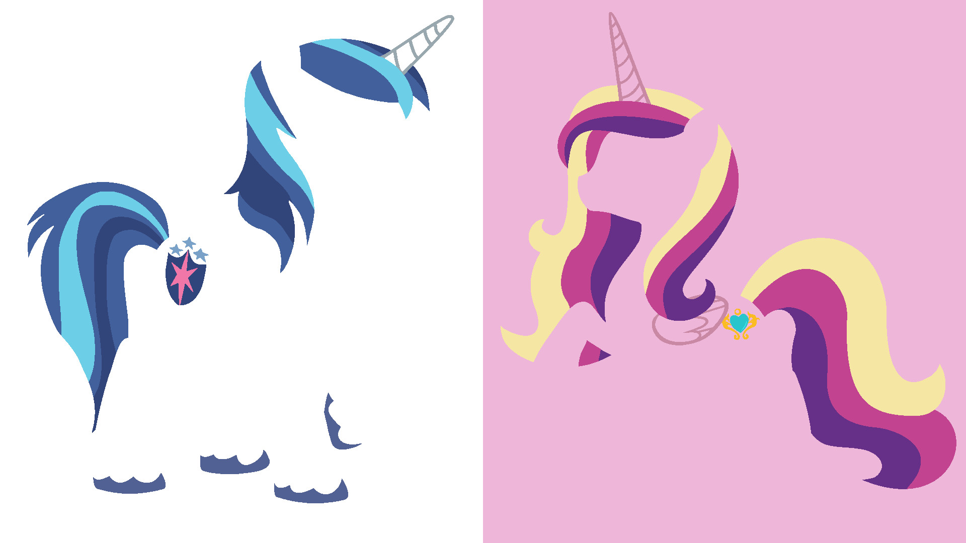 1920x1080 ... Shining Armor and Cadence Minimalistic Wallpaper by Kitana-Coldfire