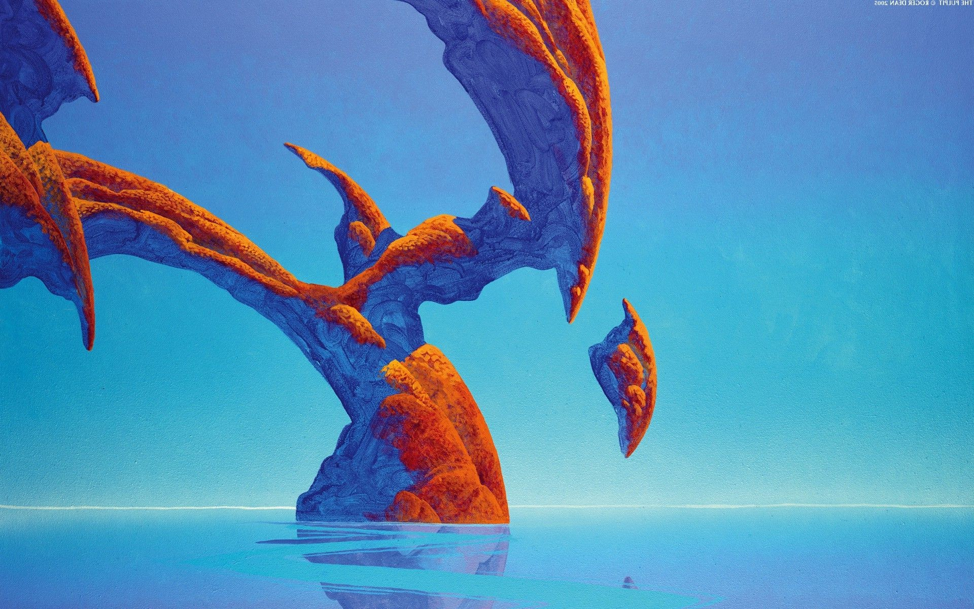 1920x1200 Roger Dean, Rock Formation, Fantasy Art Wallpaper | Roger .