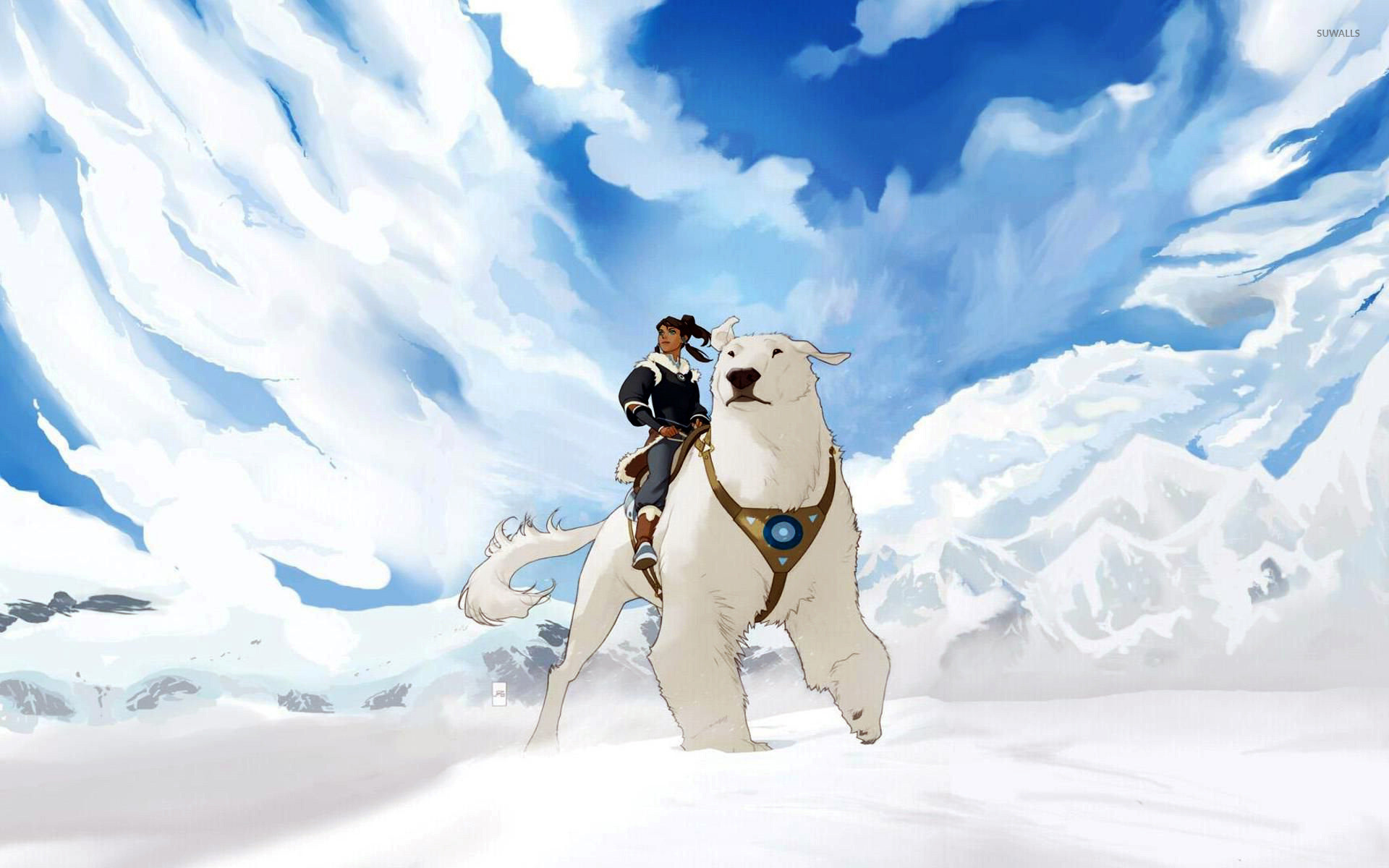 1920x1200 Korra on Naga wallpaper - Anime wallpapers - #13607