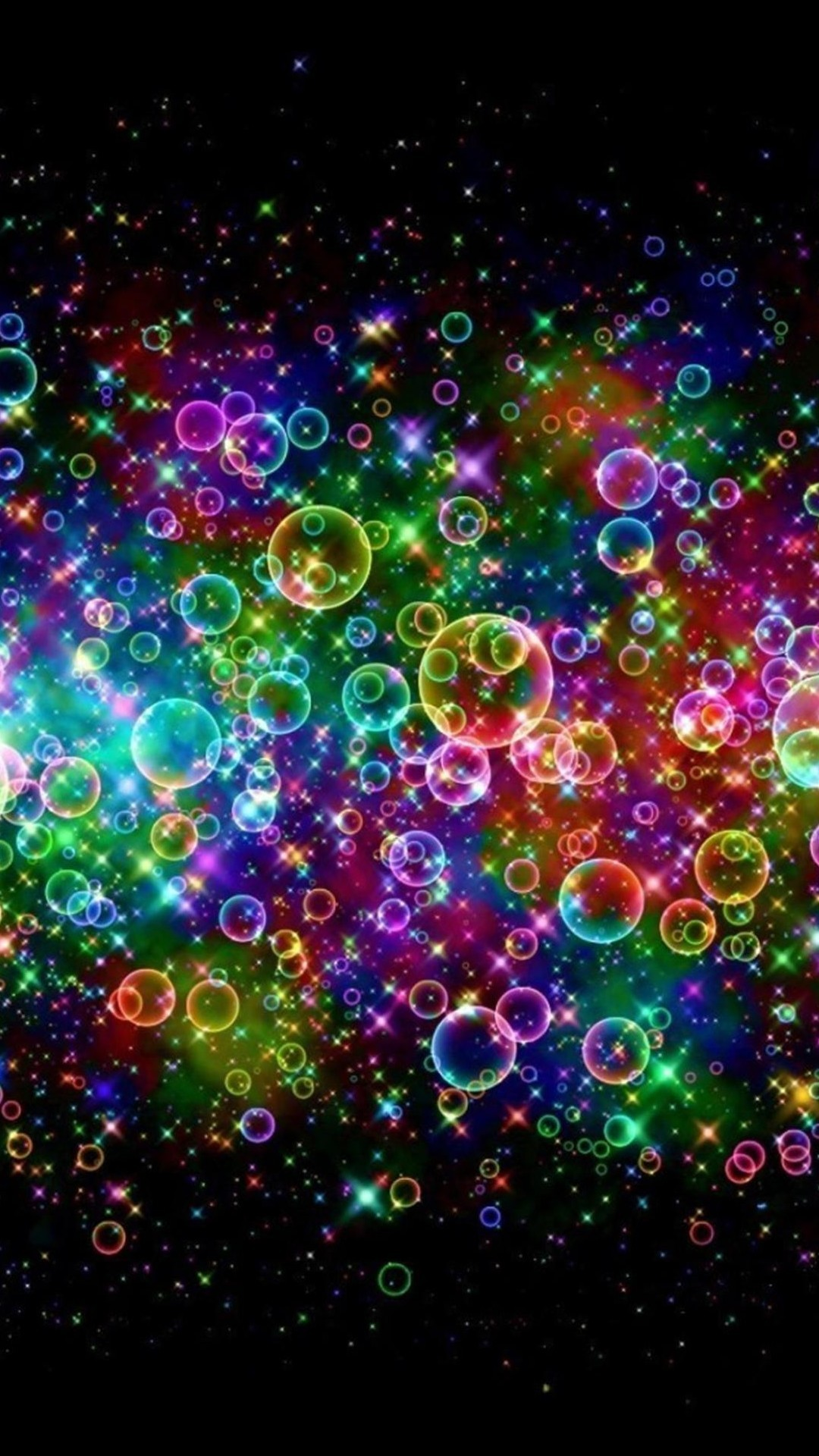 1080x1920 Rainbow Colored Soap Bubbles Android Wallpaper ...