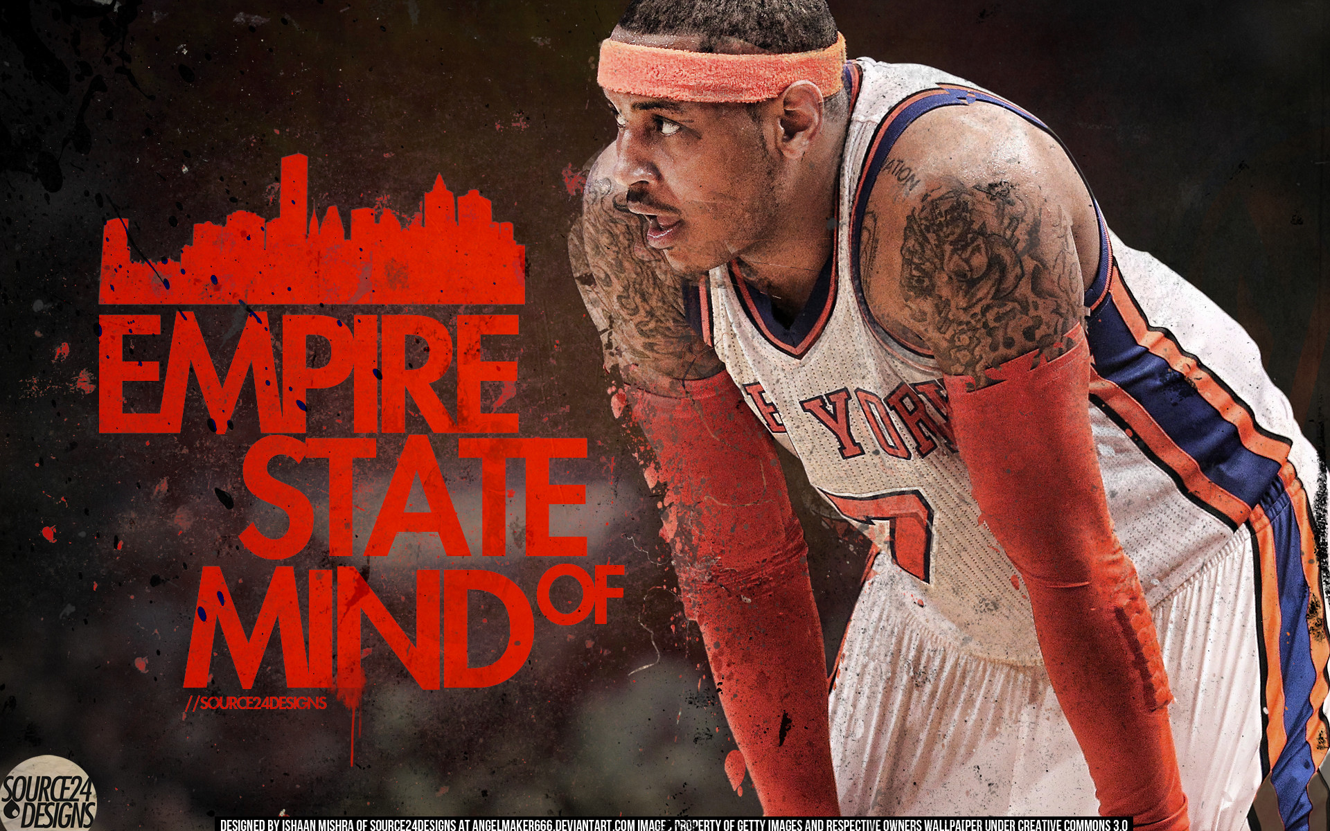 1920x1200 ... Carmelo Anthony New York Knick by IshaanMishra
