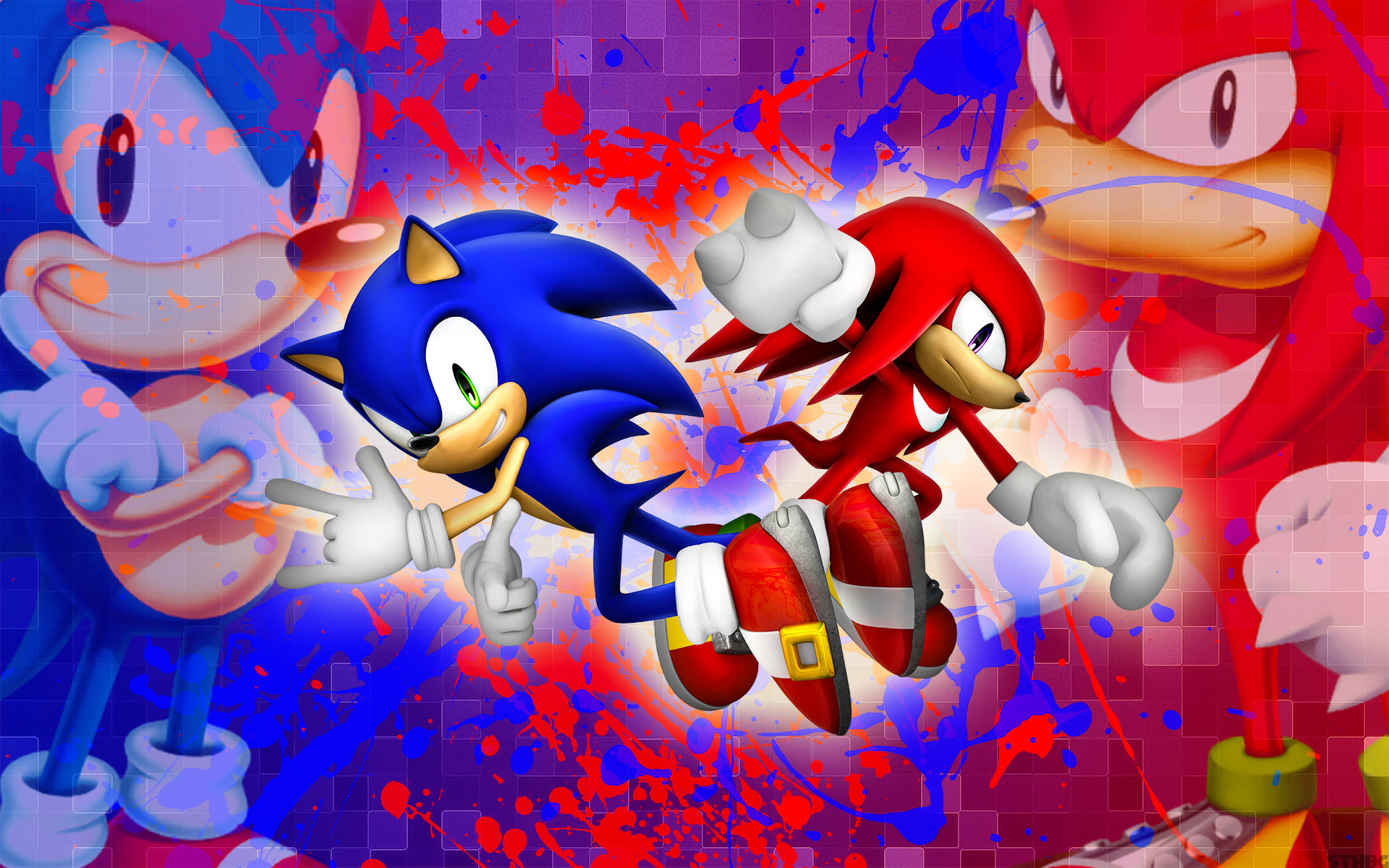 1920x1200 ... SonicTheHedgehogBG Sonic And Knuckles - Wallpaper by SonicTheHedgehogBG