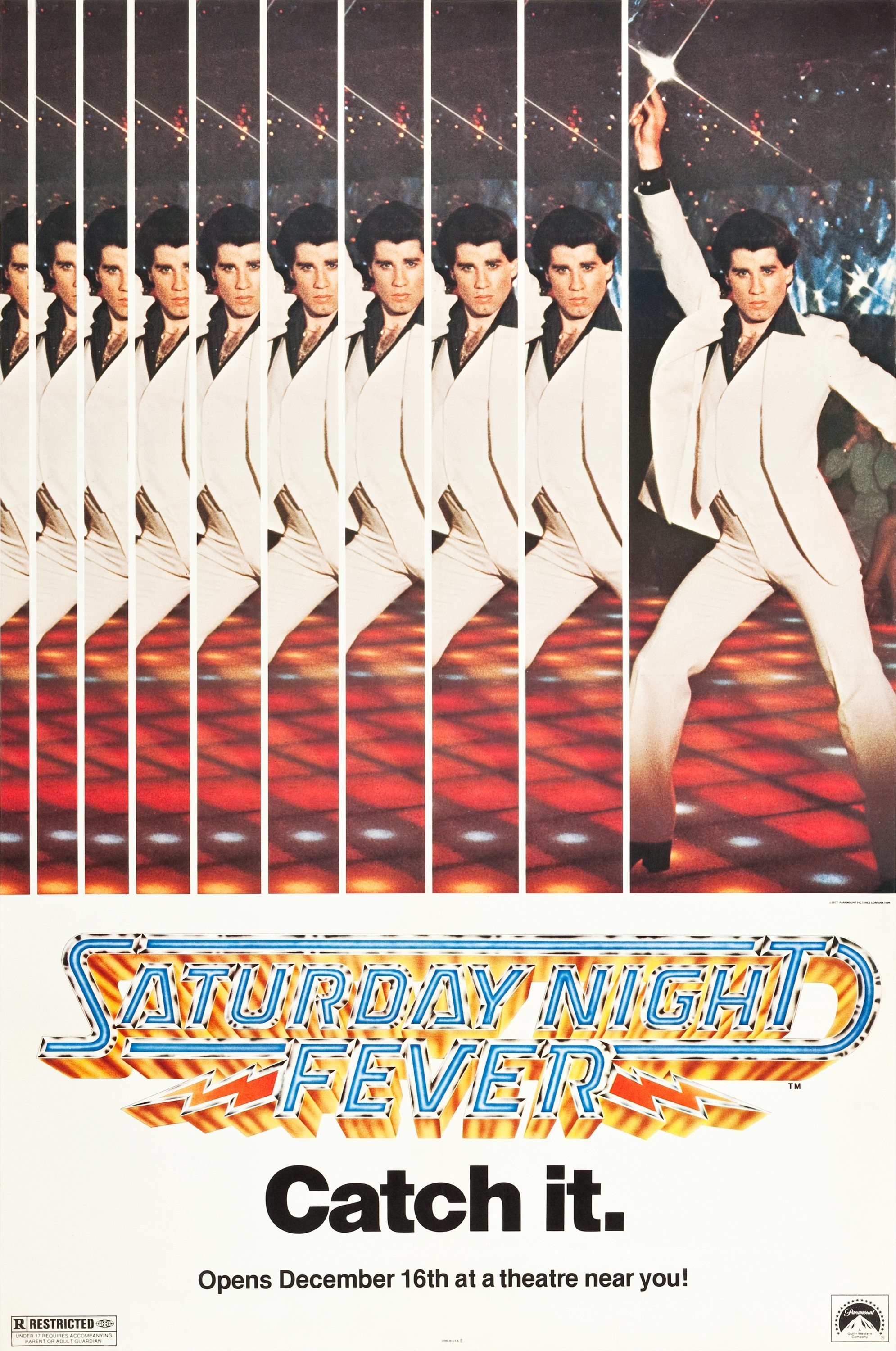 1990x3000 Poster of Saturday Night Fever directed by John Badham, 1977
