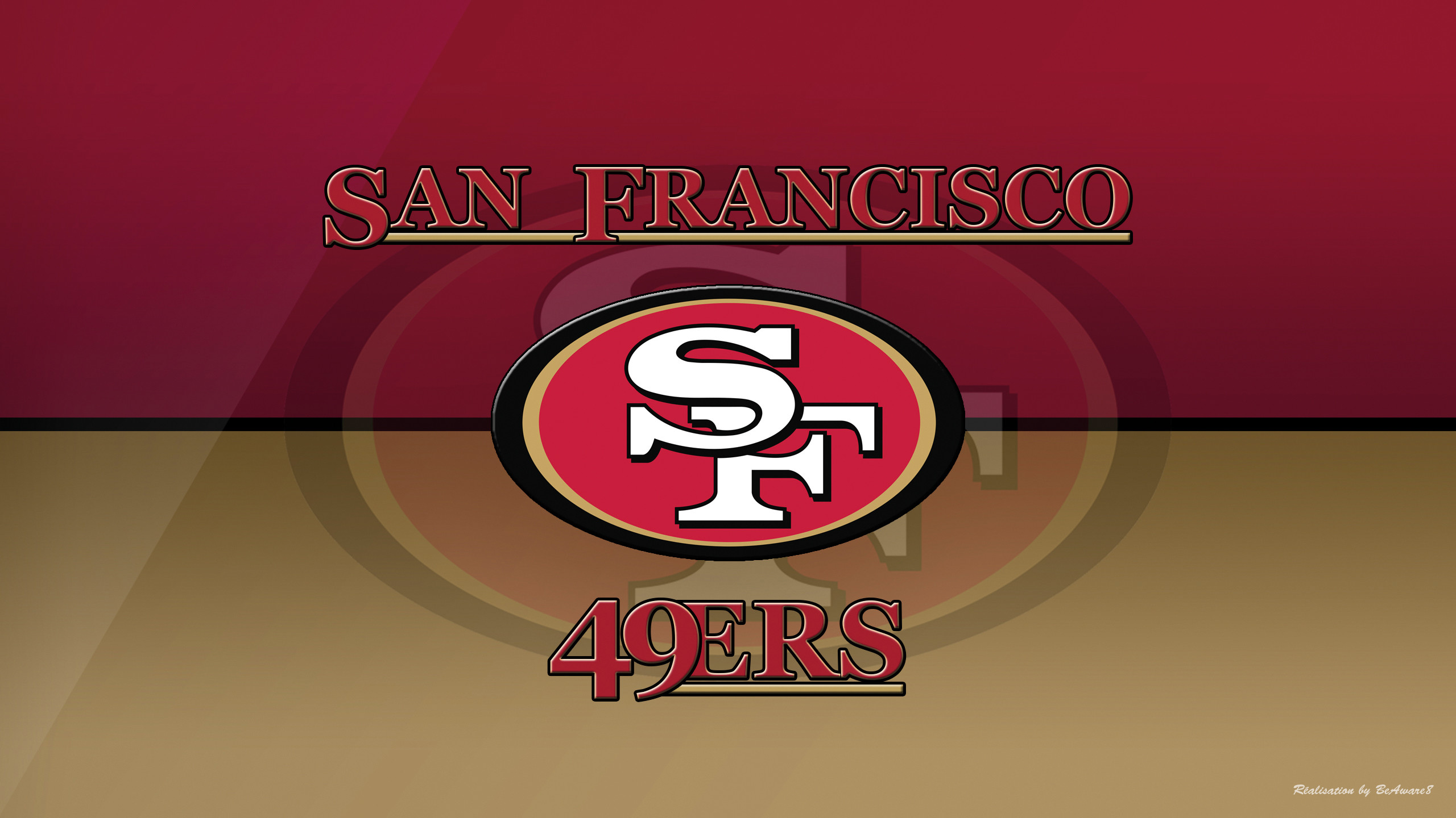 2560x1440 San Francisco 49Ers Logo wallpaper
