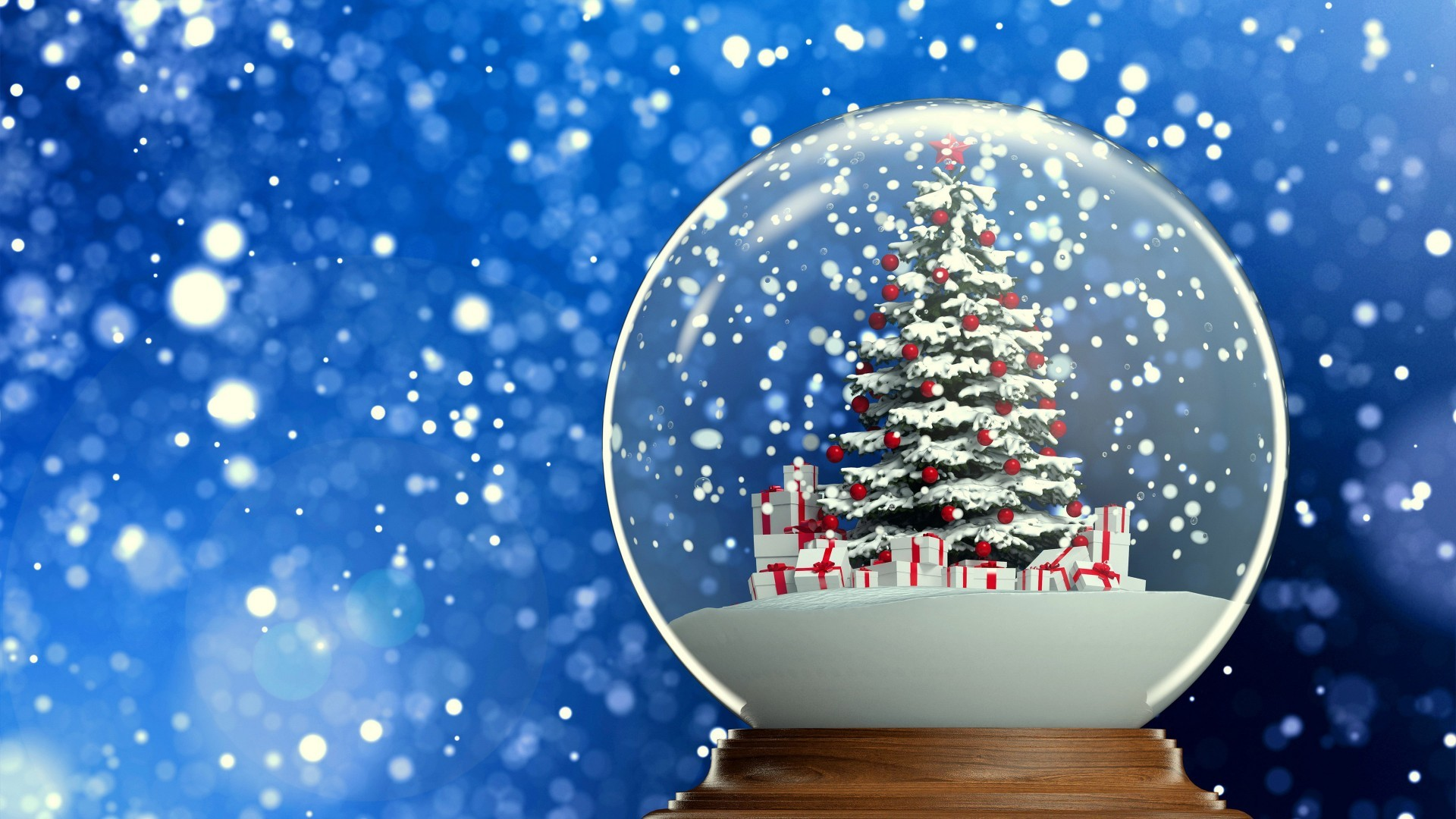 christmas snow globe wallpaper (63+ images)