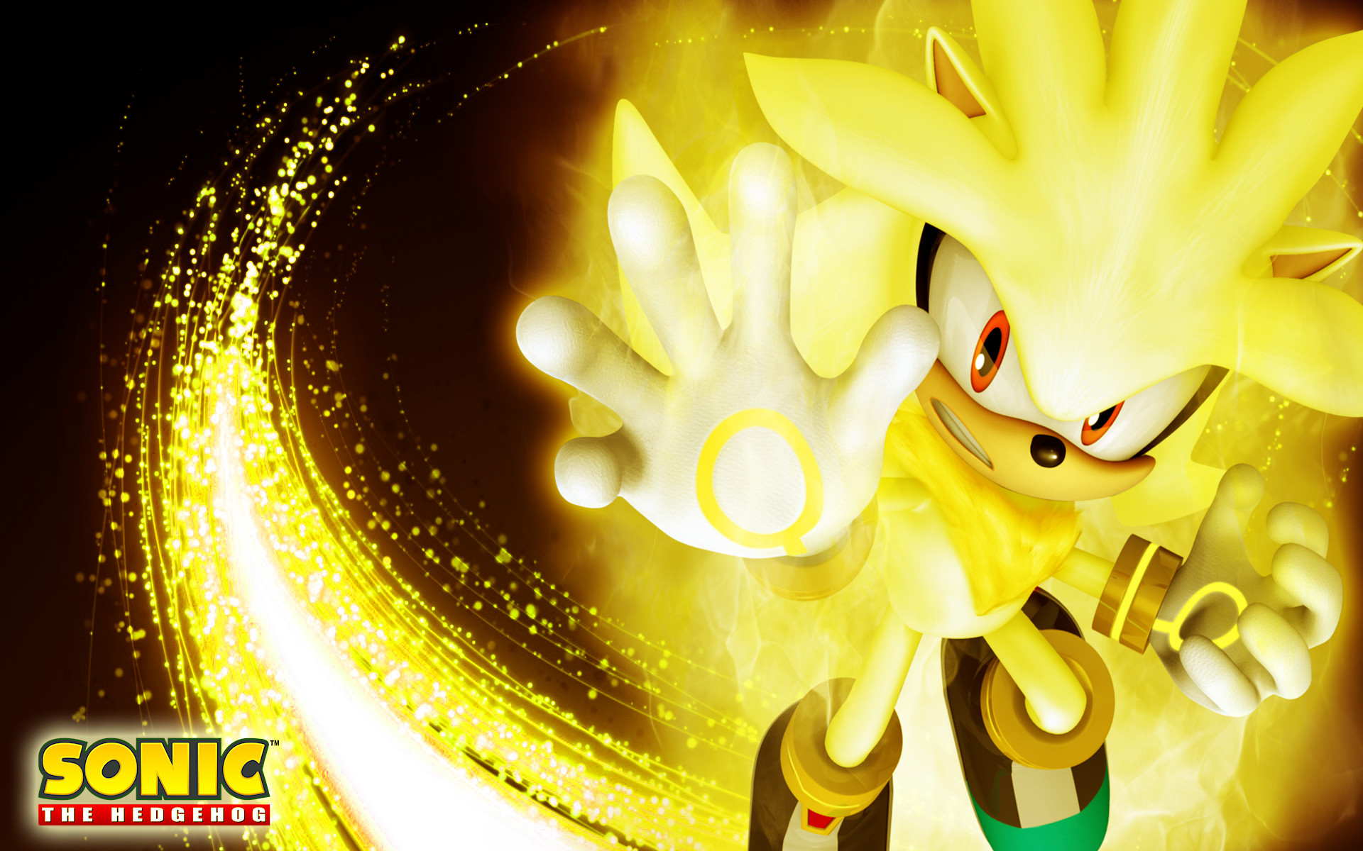 1920x1200 Super sonic and super shadow wallpaper