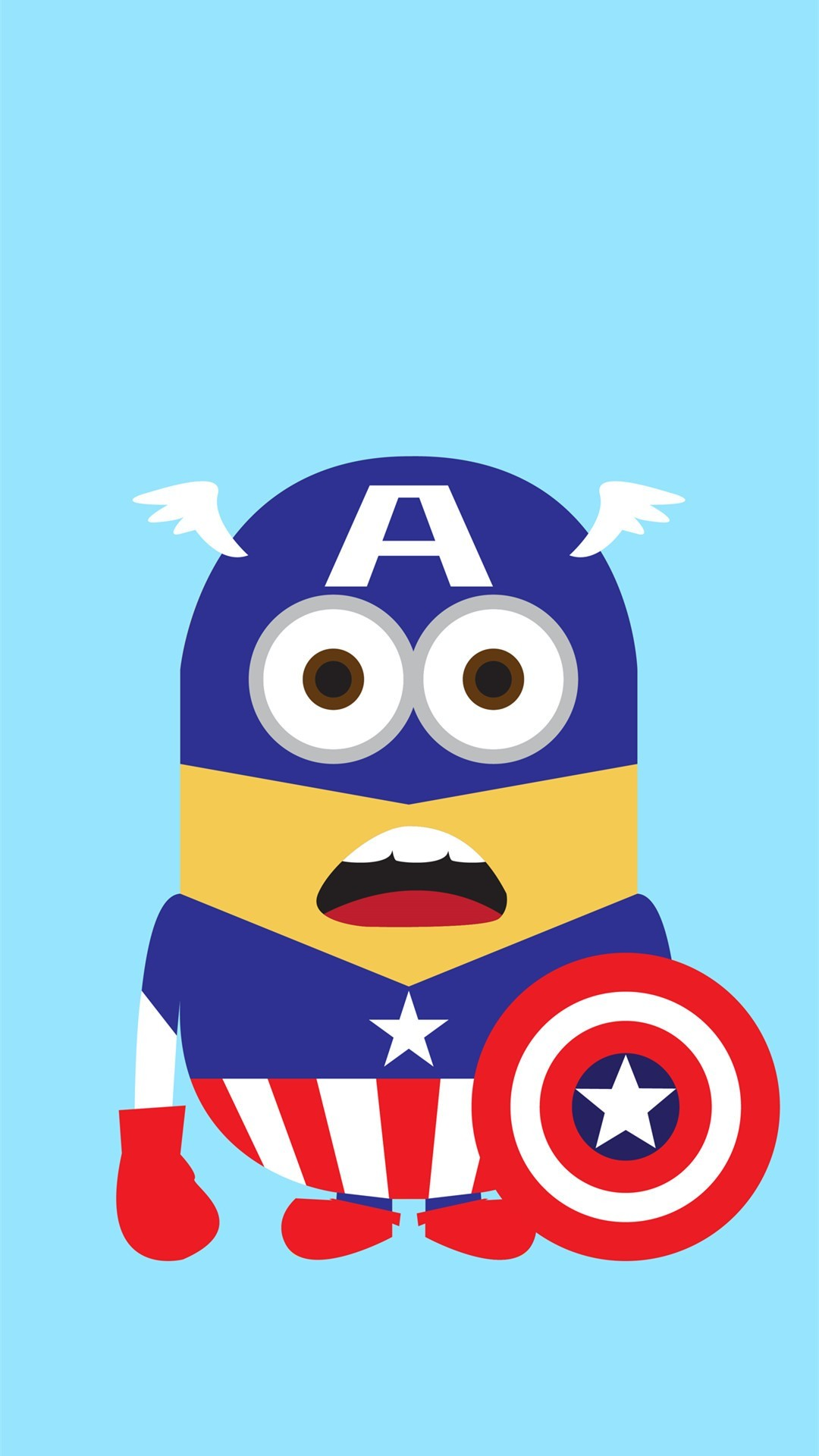 1080x1920 Despicable Me inspired Captain America minion iphone 6 plus wallpaper for  2014 Halloween