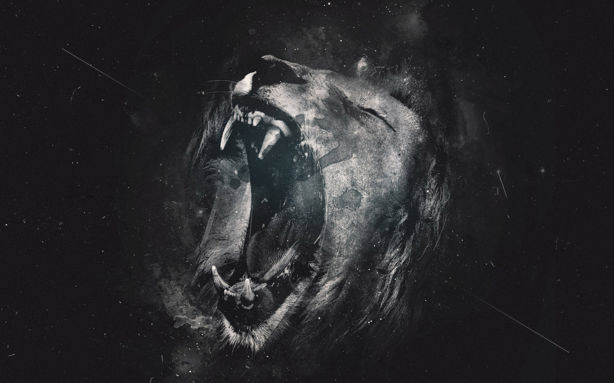Group Of Trippy Lion Hd Wallpaper