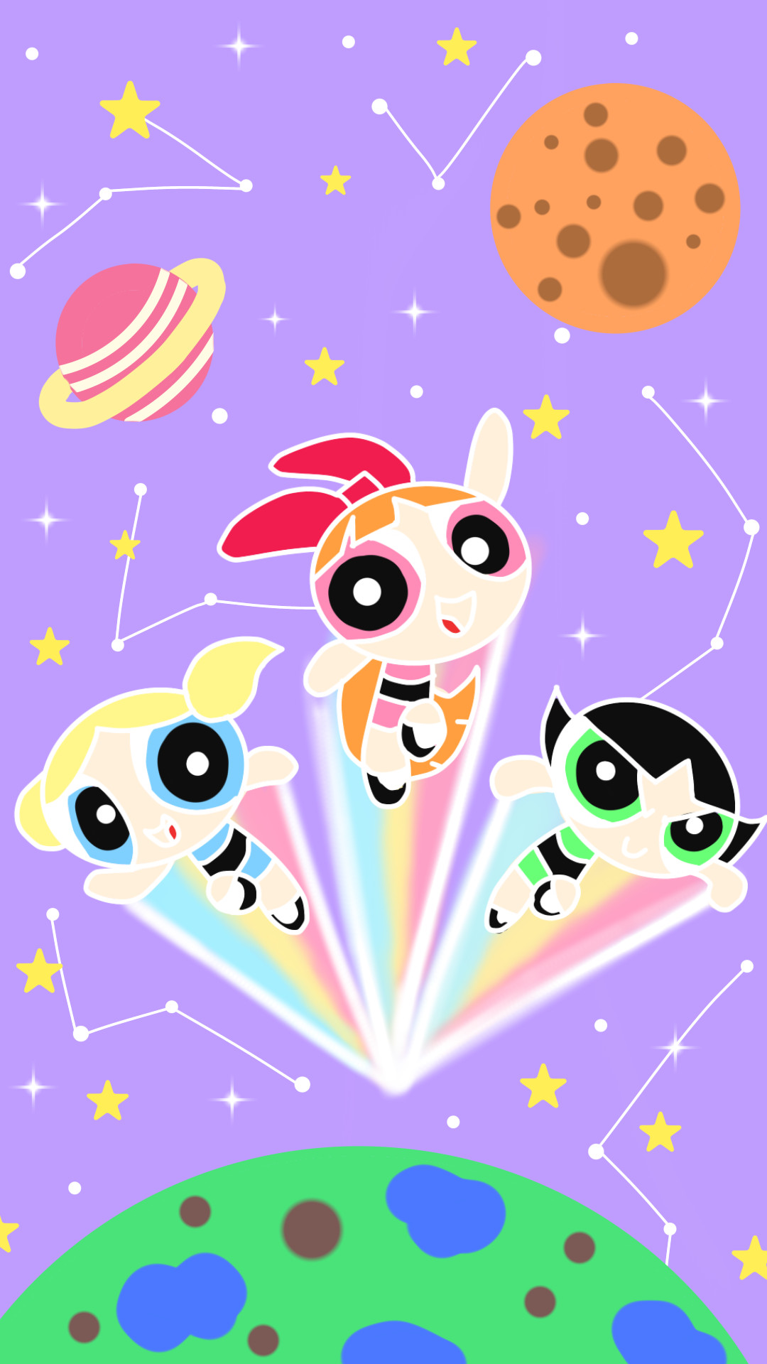 1080x1920 Save ScreenCartoon WallpaperPowerpuff GirlsIphone 6Phone WallpapersCartoon  NetworkSpiceBubblesCartoons