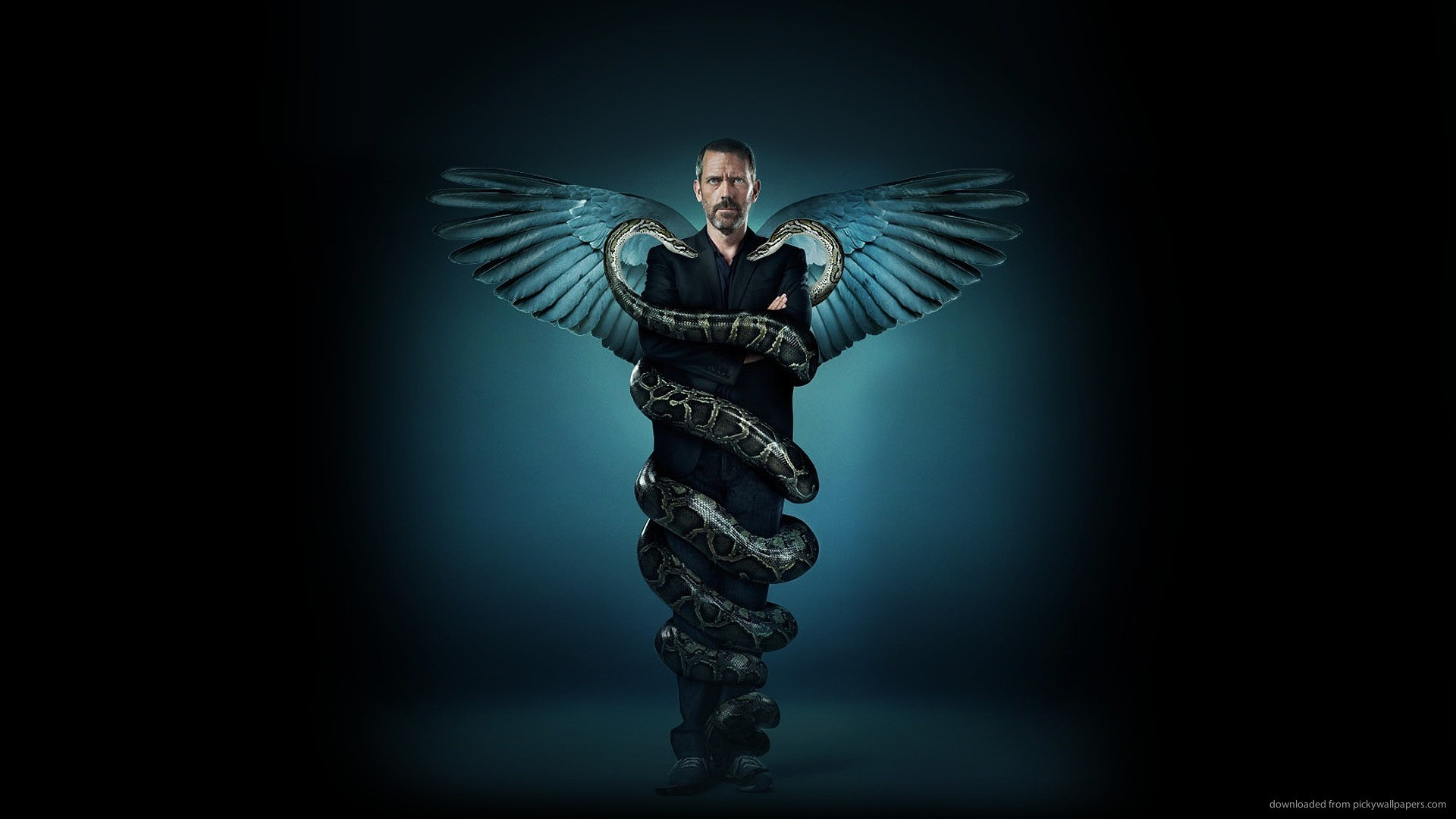 1920x1080 Hugh Laurie in real life Caduceus for