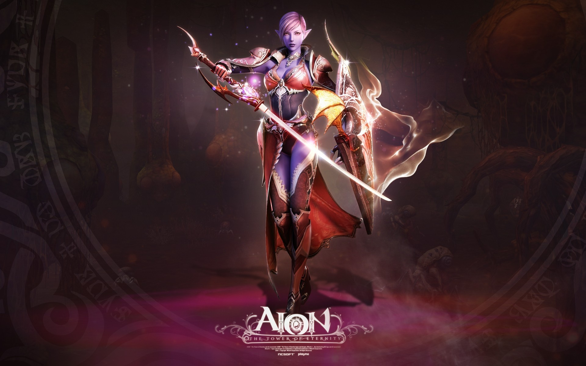 1920x1200 Wallpaper Aion the tower of eternity, Girl, Skull, Magic, Fire, Monster HD,  Picture, Image