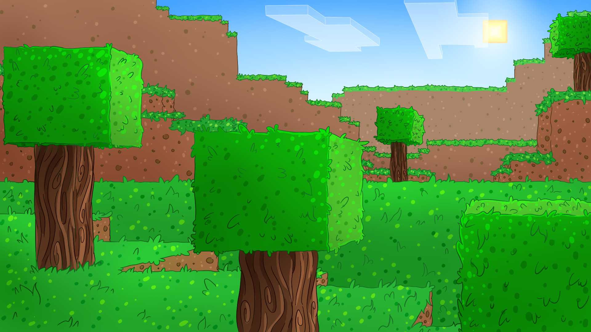 1920x1080 Minecraft Background by DoritoDemon2 Minecraft Background by DoritoDemon2