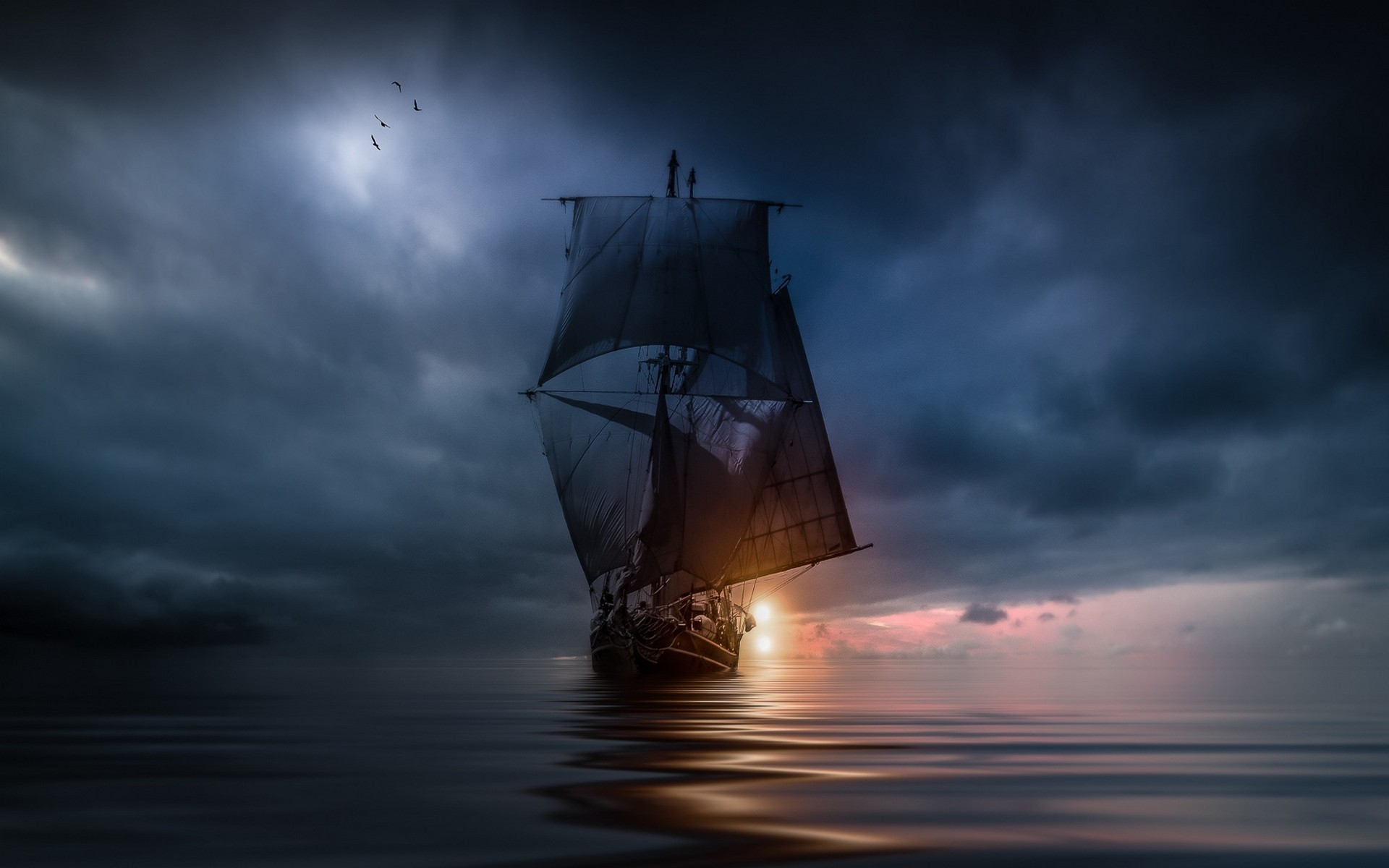 1920x1200 Sailing Ship Wallpaper