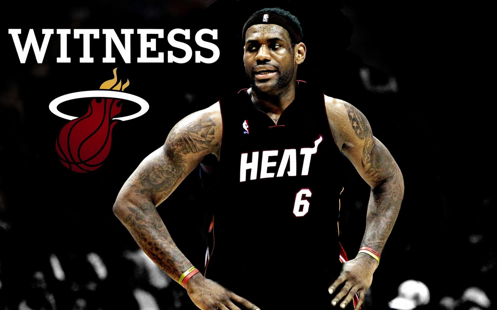 1920x1200 Lebron James Miami Heat wallpaper