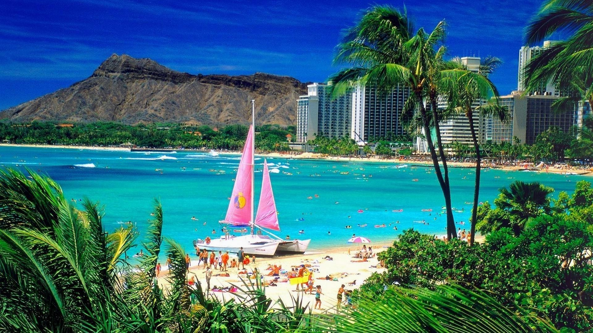 1920x1080 Waikiki-honolulu-hawaii-wide-wallpaper-hd