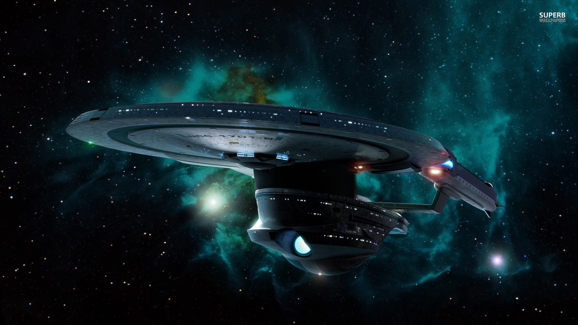 1920x1080 Starship Enterprise at warp wallpaper - Movie wallpapers - #25372