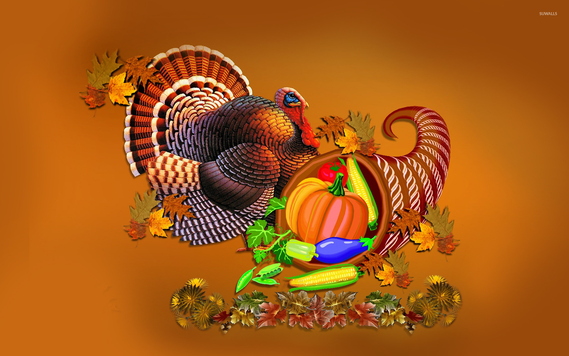 1920x1200 Thanksgiving turkey and cornucopia wallpaper  jpg