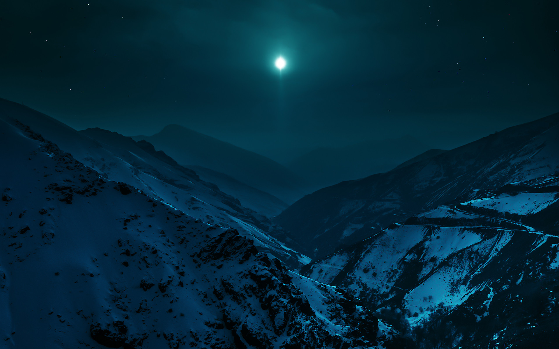 1920x1080 Night Hill Moonlight Wallpaper By DanielThorndyke