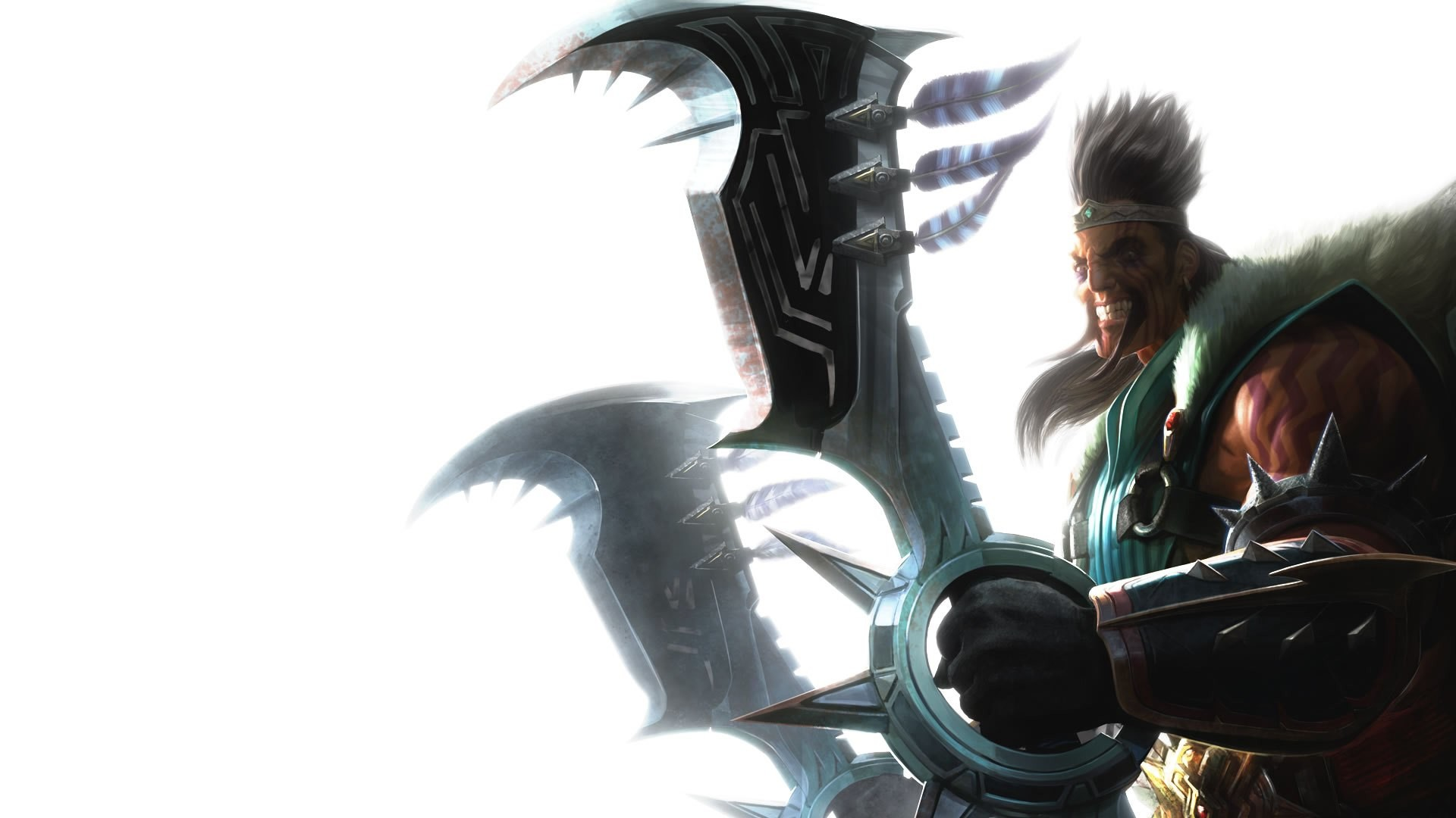 1920x1080 League-of-Legends-Draven-And-Axes-Wallpaper