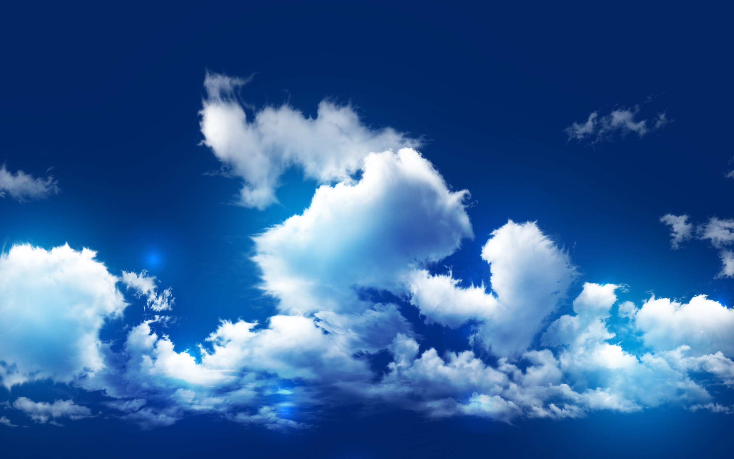 Blue Sky With Clouds Wallpaper 56 Images