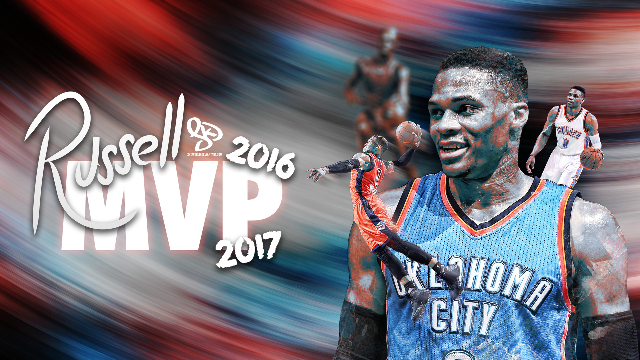 2560x1440 ... Russell Westbrook: 2016-2017 NBA MVP by SkdWorld