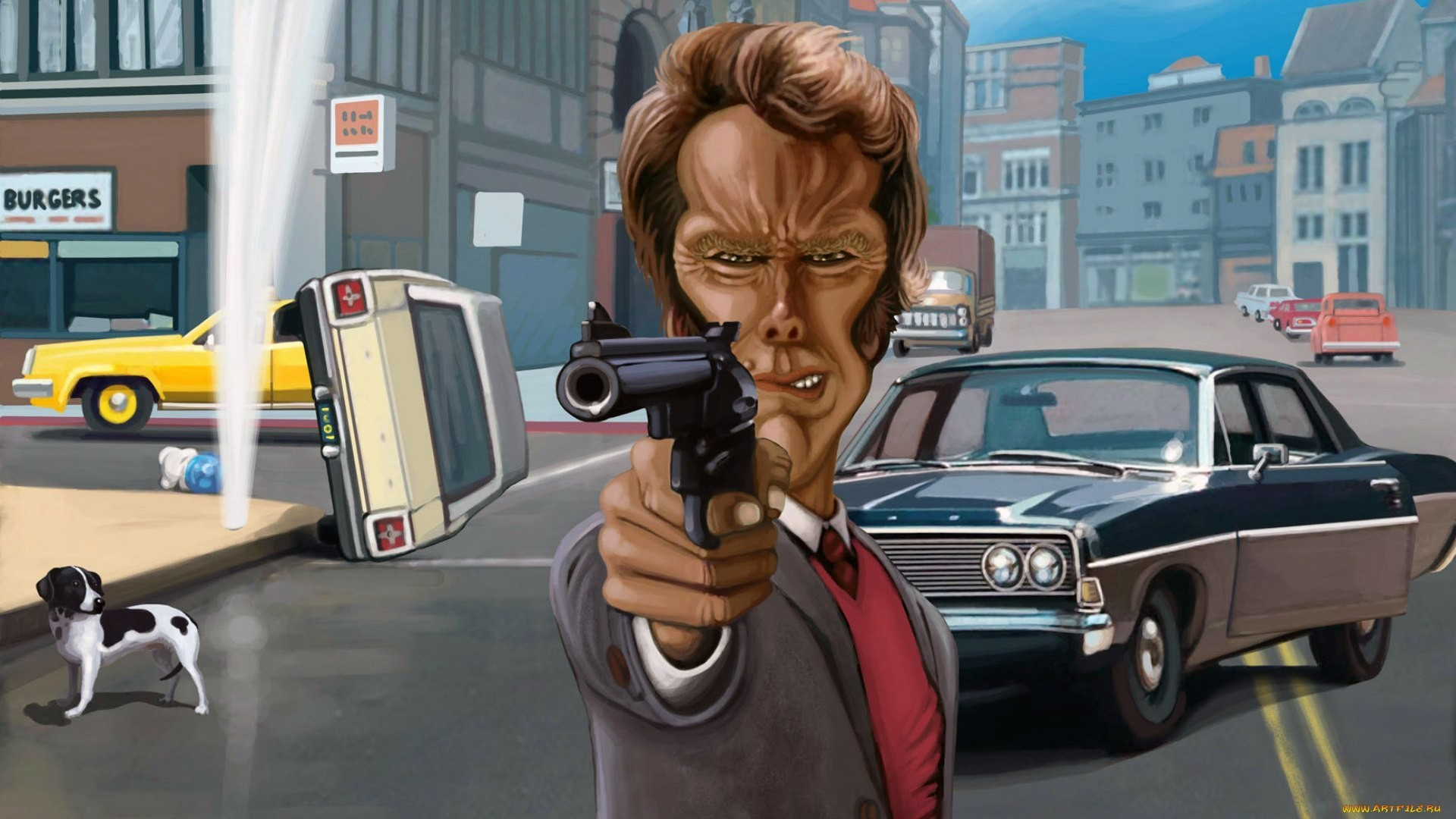 1920x1080 wallpaper Clint Eastwood · Dirty Harry