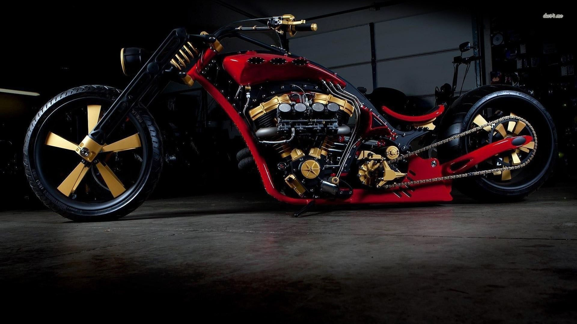1920x1080 Custom Choppers Motorcycles Wallpaper