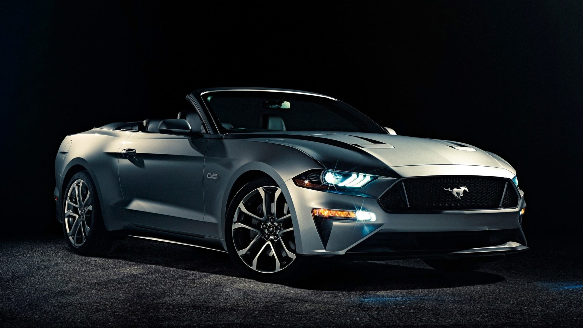 2048x1152 2018 Ford Mustang Convertible 4K Wallpapers, Images, HD
