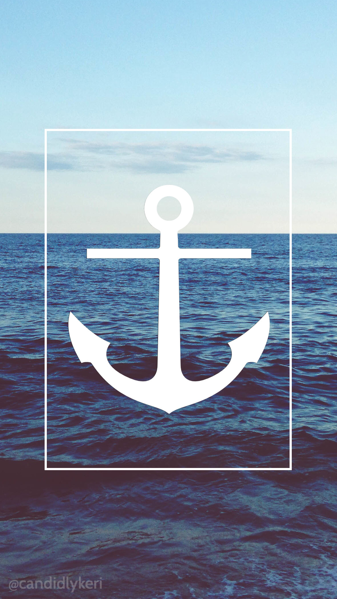1080x1920 Sea Anchor Beach Nautical Wallpaper With Black And White Flowers Free Download For IPhone Android