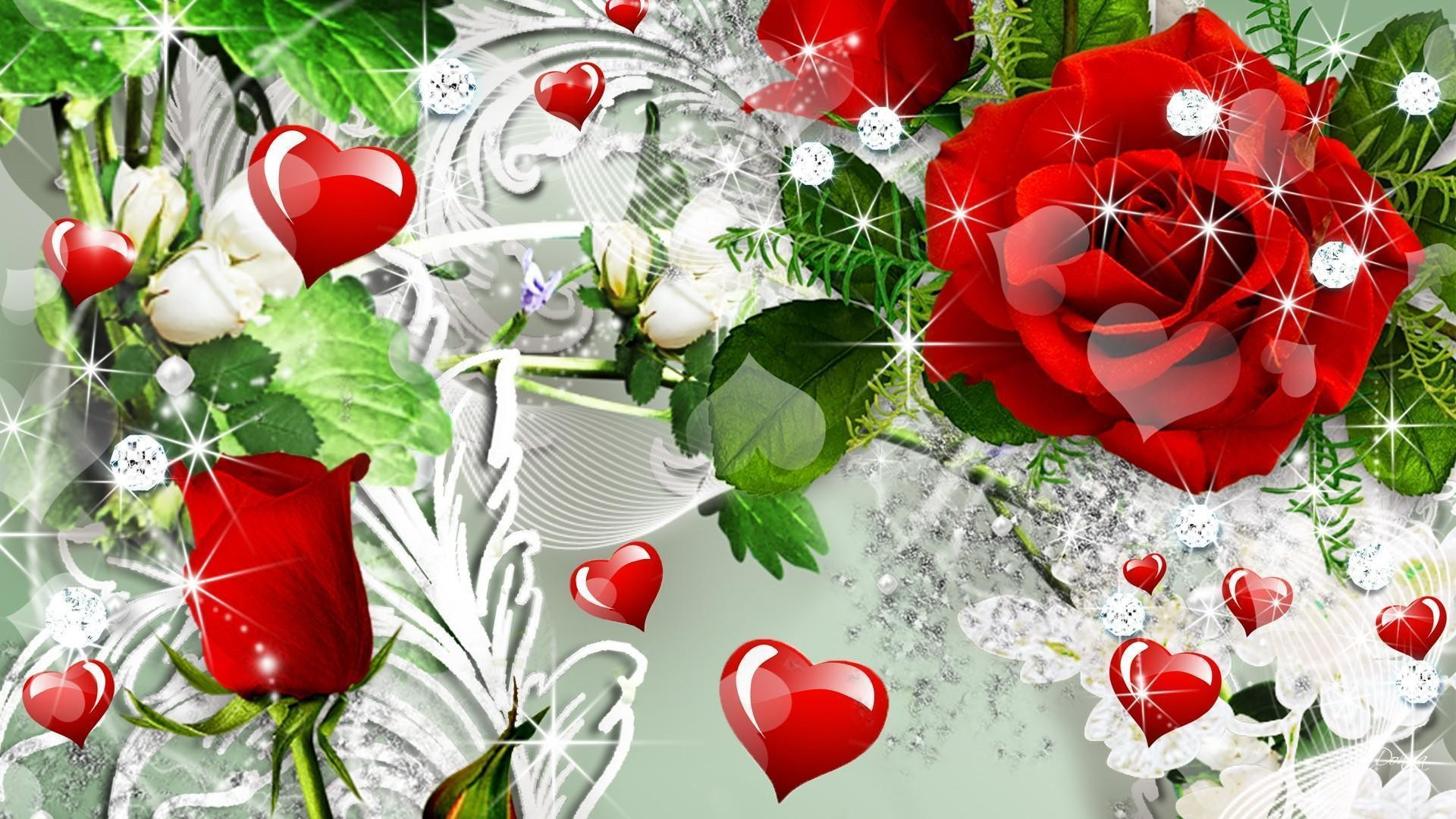 1920x1080 Wallpapers For > Red Roses Wallpaper Heart