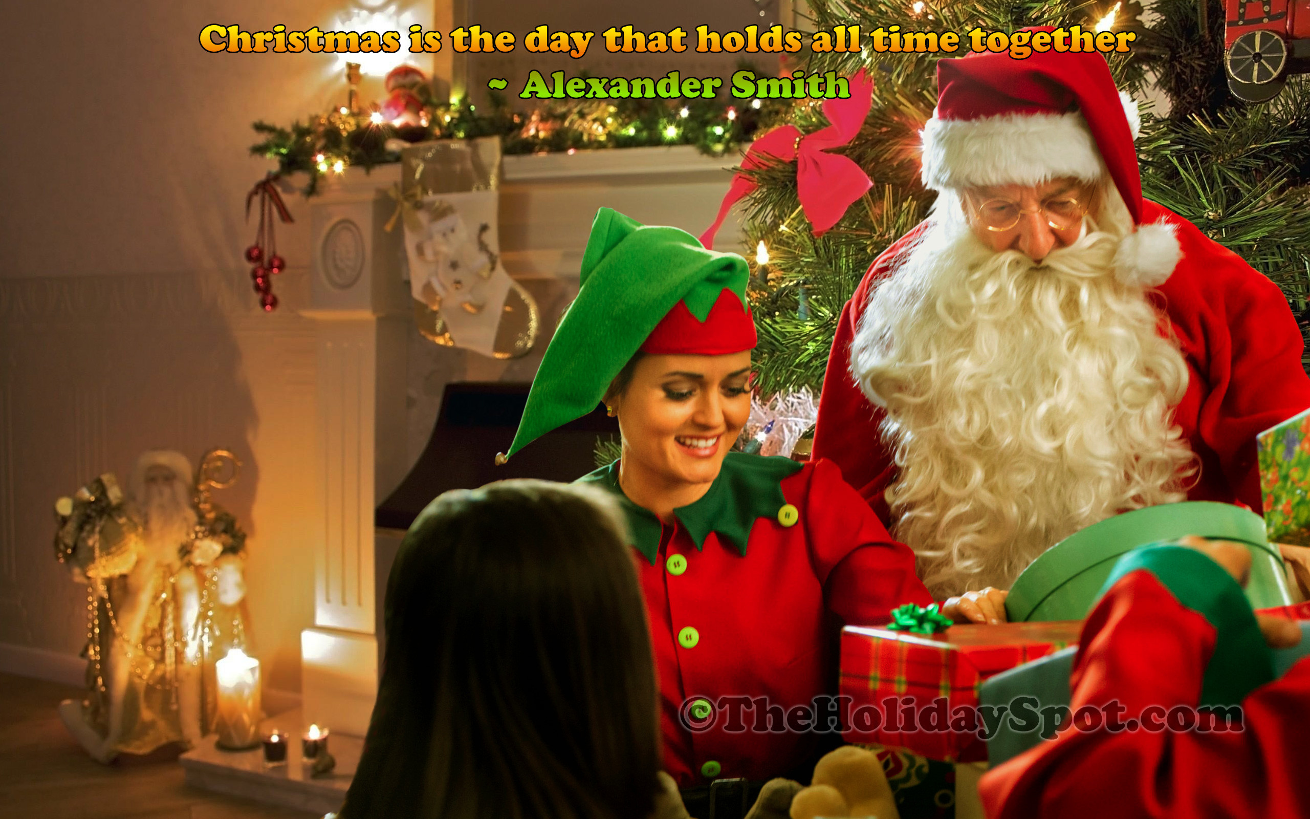 2560x1600 Wallpaper - Christmas celebration with Santa