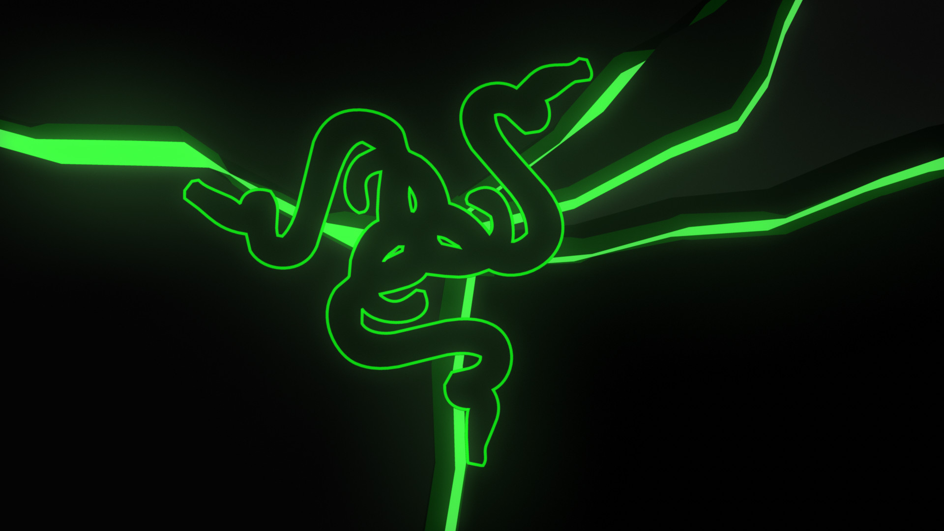 1920x1080 Razer Neon Green Wallpaper HD