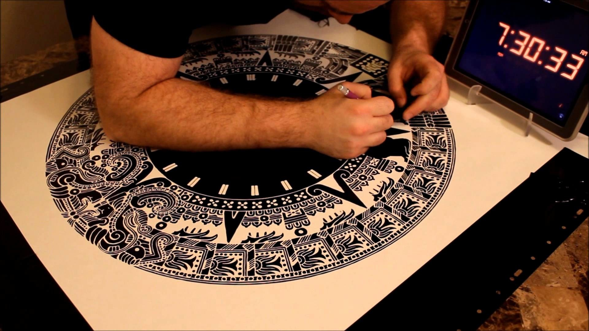 1920x1080 Vinyl Sticker Time Lapse - Aztec / Mayan Calendar (4 hour sticker!) -  YouTube