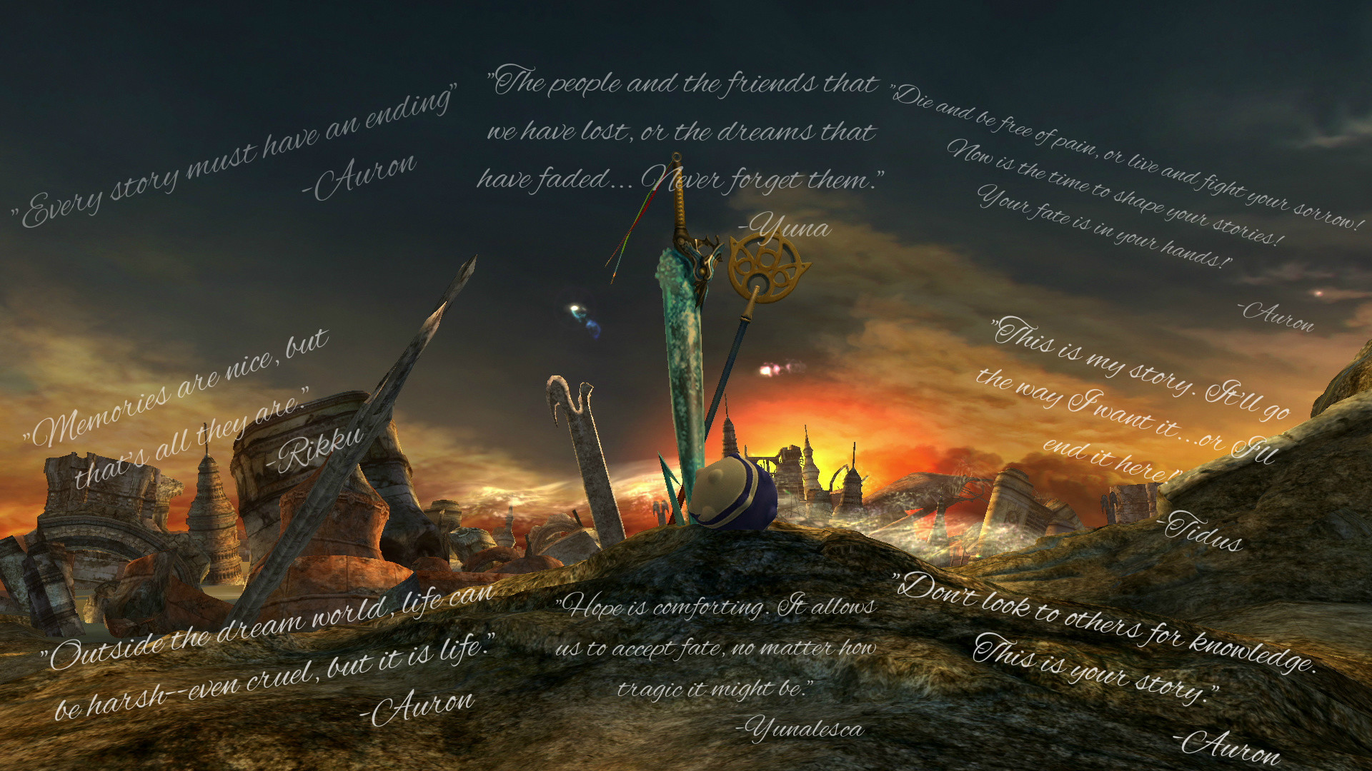1920x1080 ... Final Fantasy X Wallpaper (Quotes) by Kaet125
