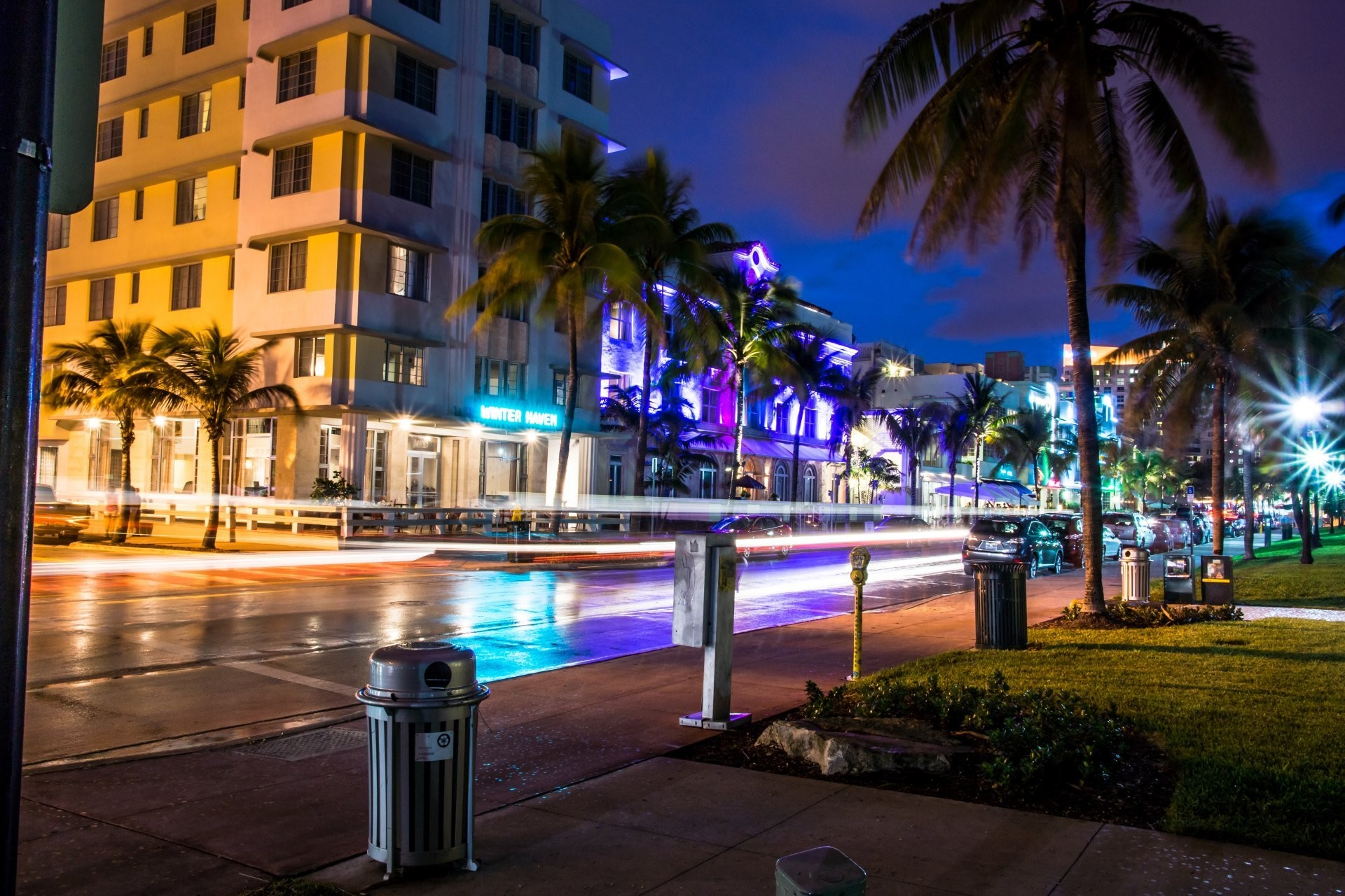 1920x1280 miami florida florida miami night lights street vice city
