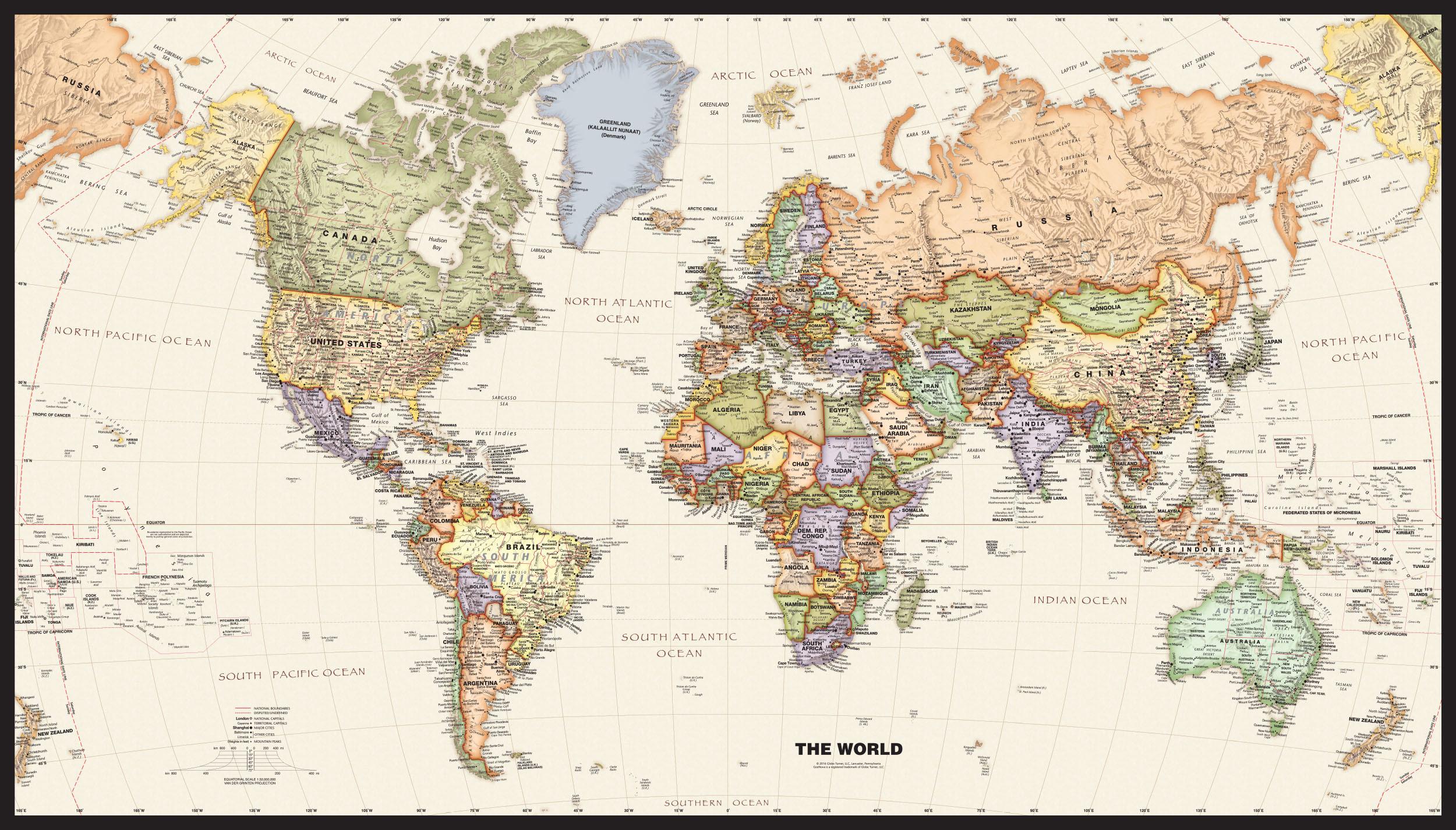 2000x1212 political world map mural wallpaper download