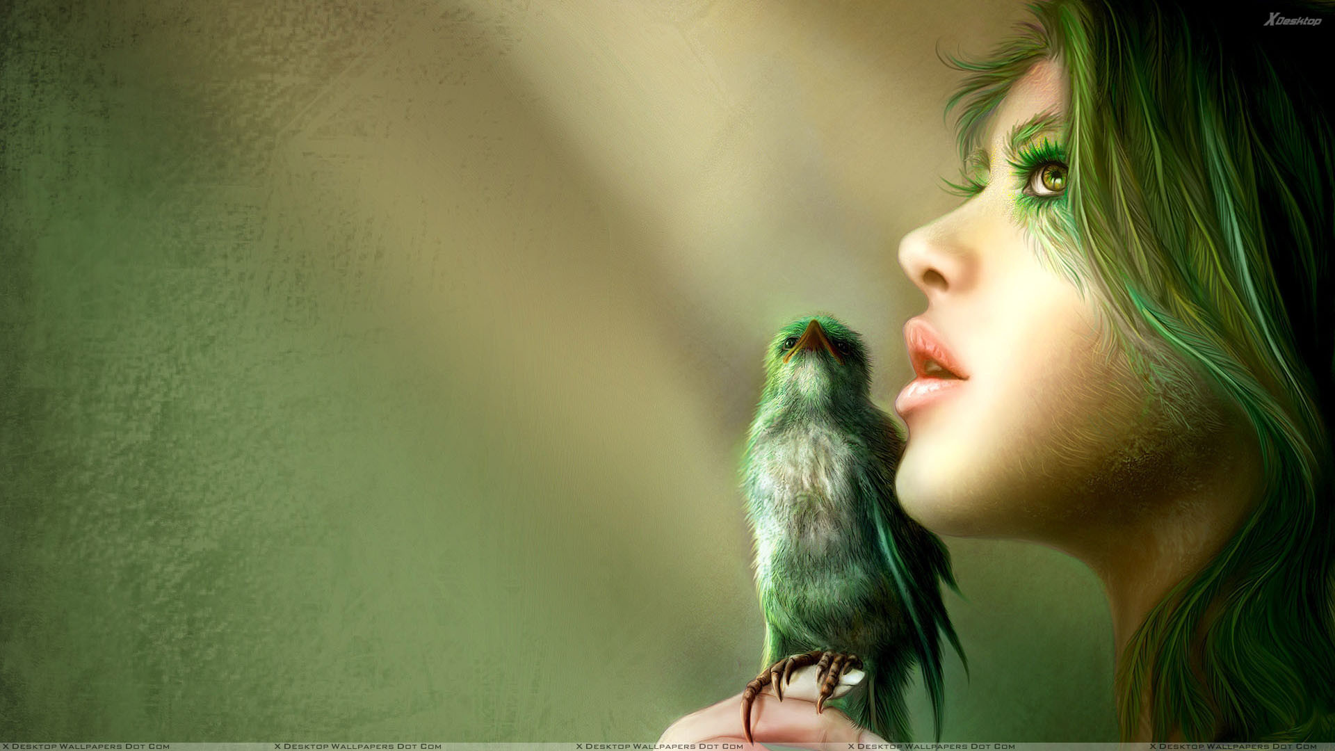 1920x1080 ... Girl Side Face Wallpaper 3D Girl Side Face Closeup N Bird On Hand  Wallpaper ...