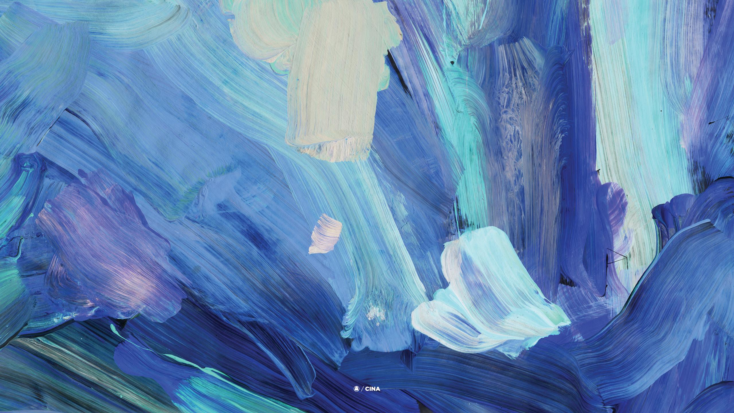 Aesthetic Pastel Blue Desktop Wallpaper