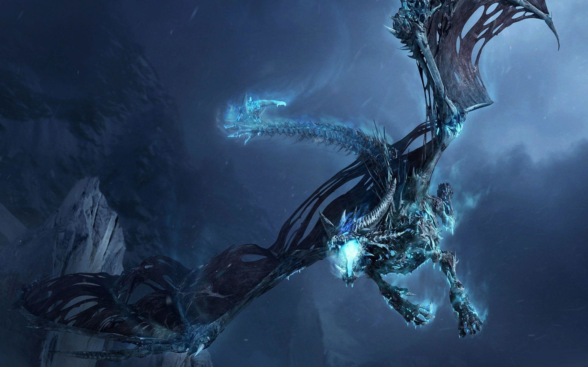 1920x1200 Wallpapers For > Cool Blue Dragon Wallpapers