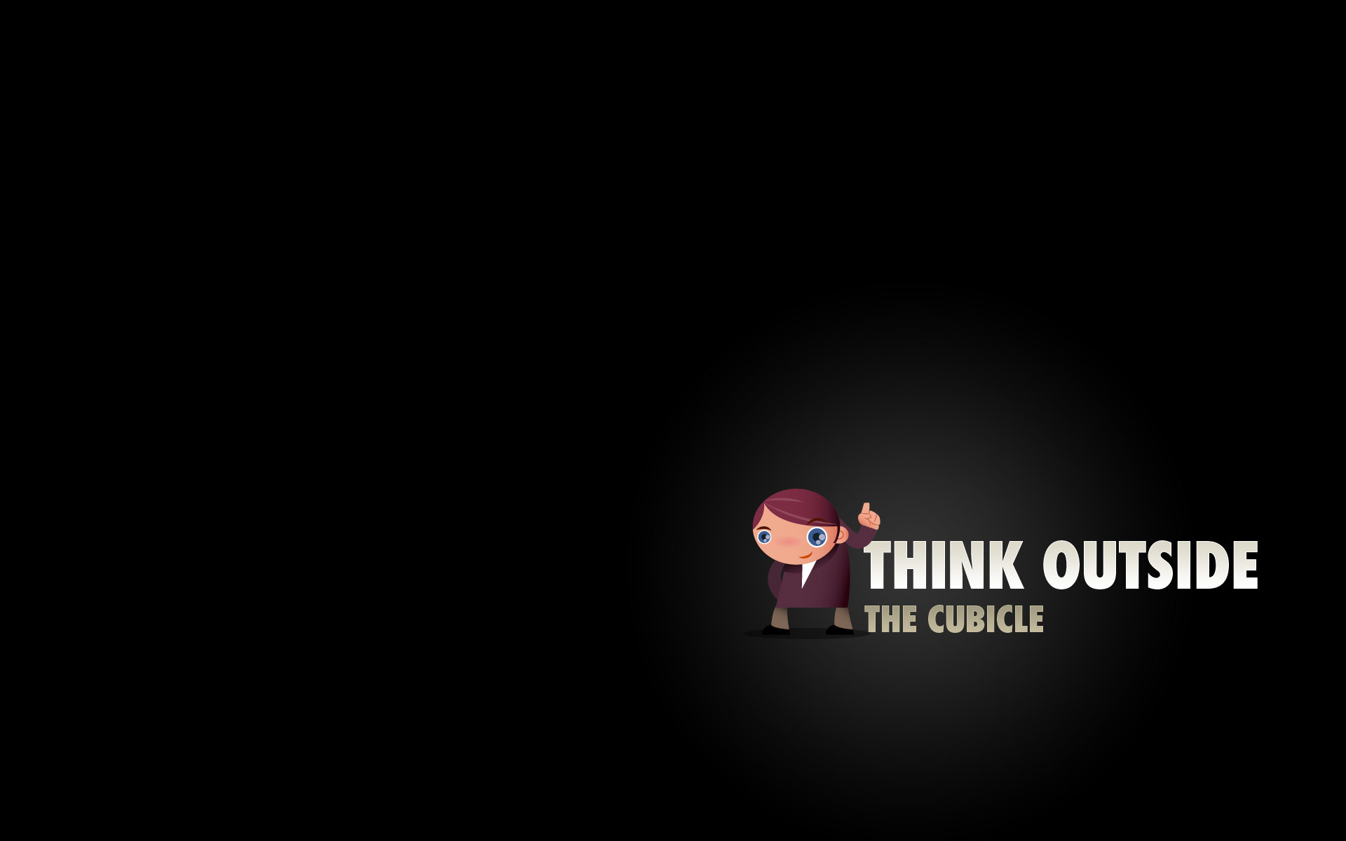 1920x1200 Think Outside The Cubicle wallpaper