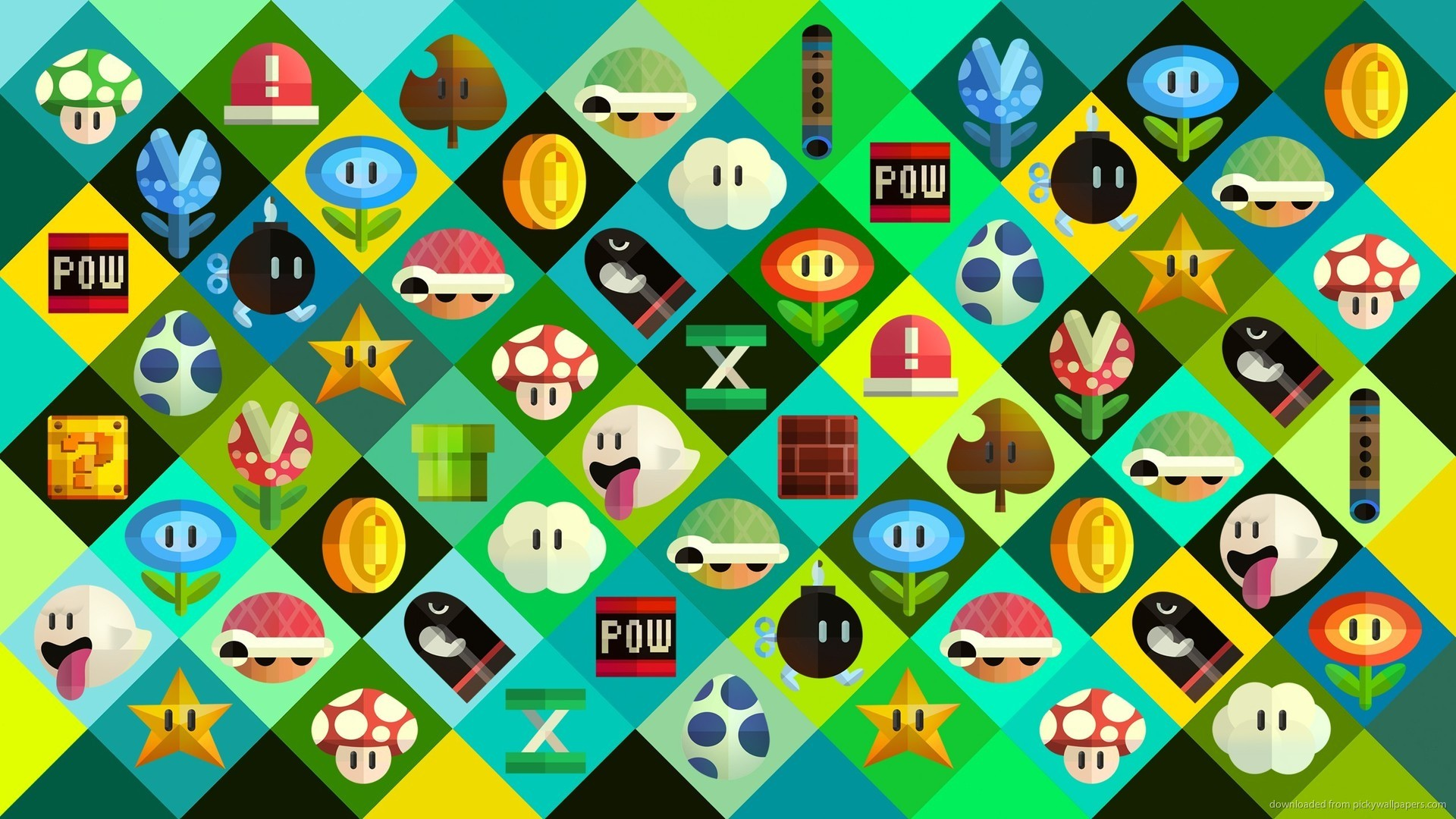 1920x1080 x wallpapers super mario bros items Super Mario Wallpapers