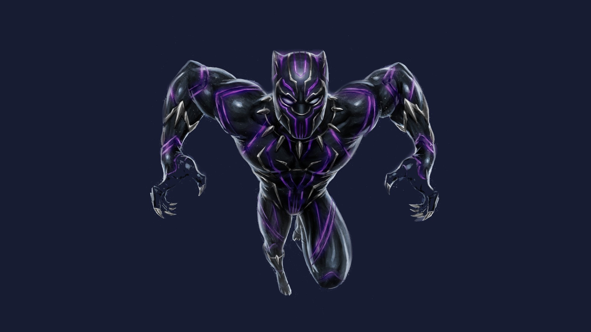 1920x1080 Black Panther Wallpaper Purple Background