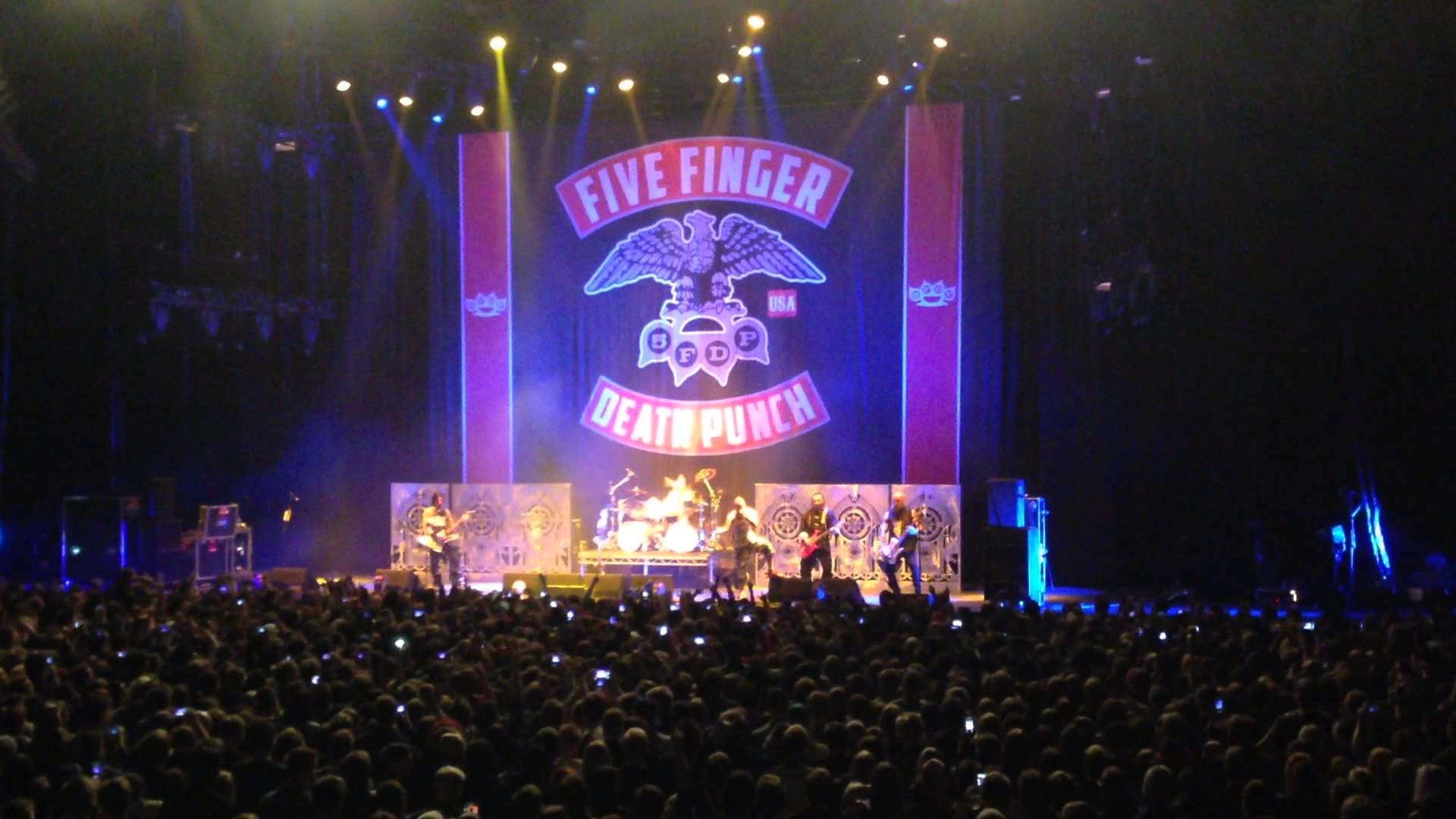 1920x1080 Five finger death punch - Under and over it Live Oslo spectrum Norway 9  november HD 1080p