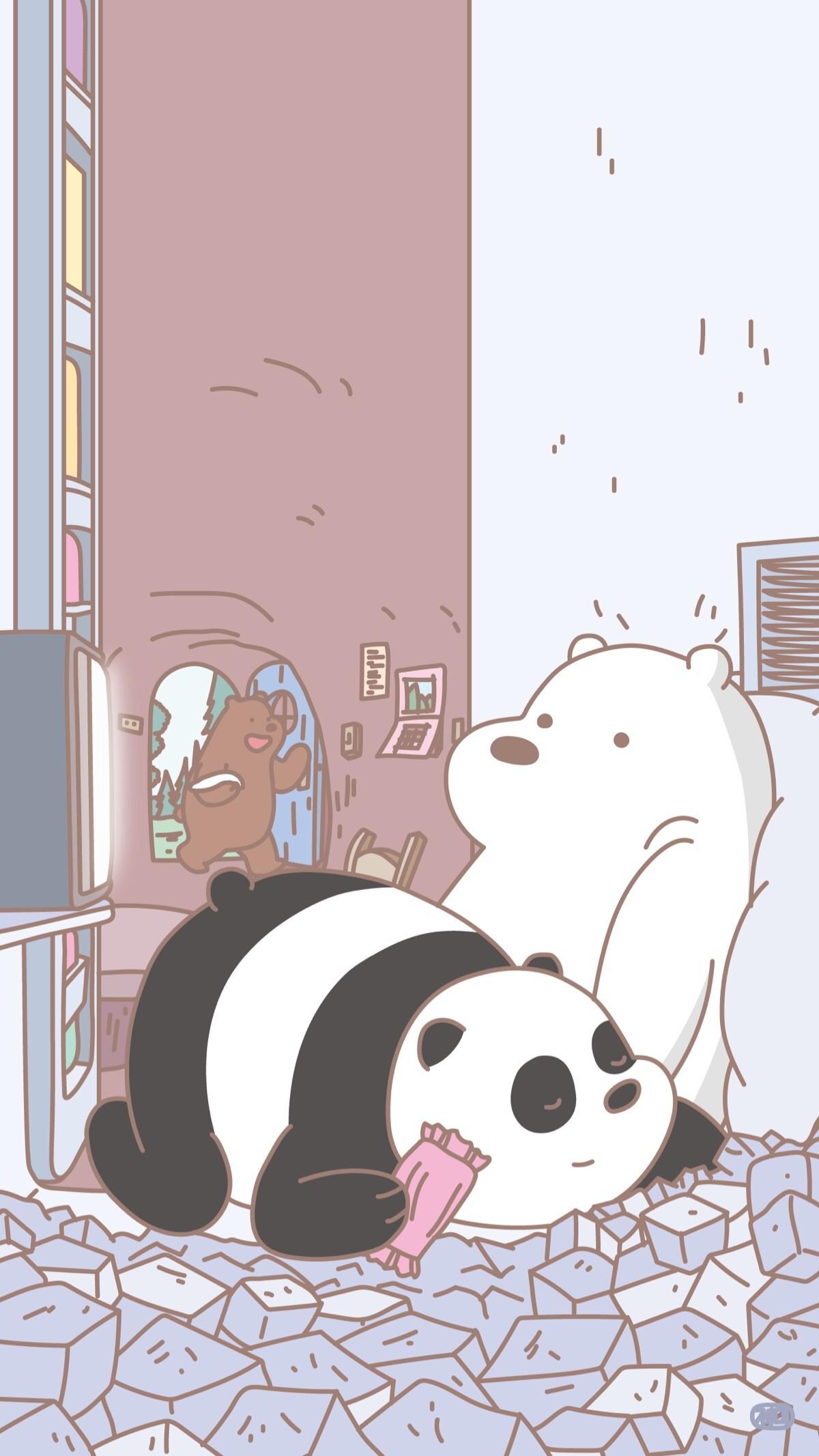 Cute Cartoon Panda Wallpaper 77 Images