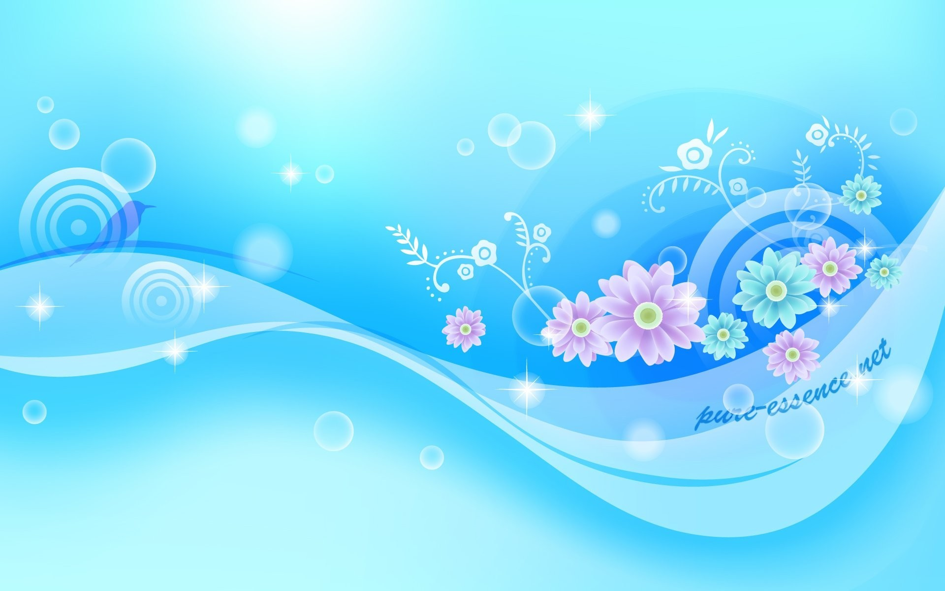 1920x1200  Vector Background Blue Flower HD Wallpaper Nature | Wallpaper for  .