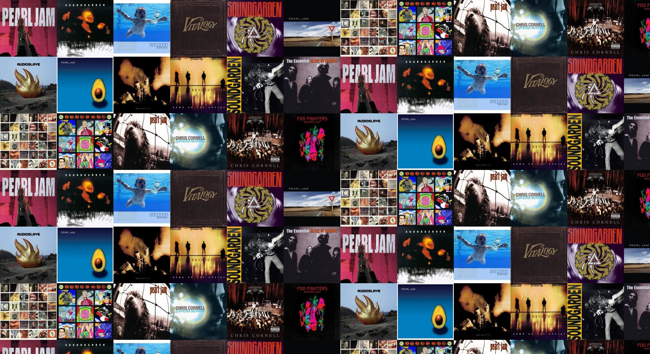 2200x1200 Pearl Jam Ten Soundgarden Superunknown Nirvana Nevermind Wallpaper Â« Tiled  Desktop Wallpaper
