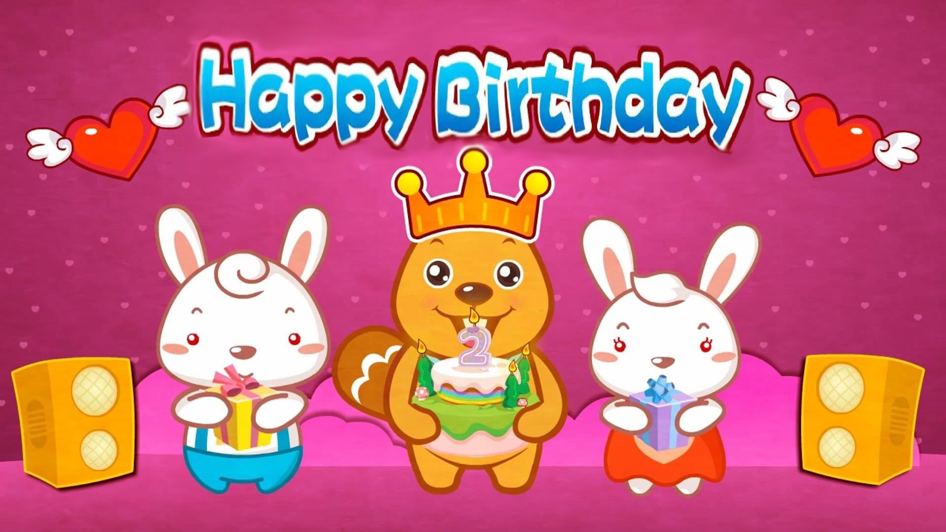 1920x1080 Happy birthday wishes funny animation wallpapers