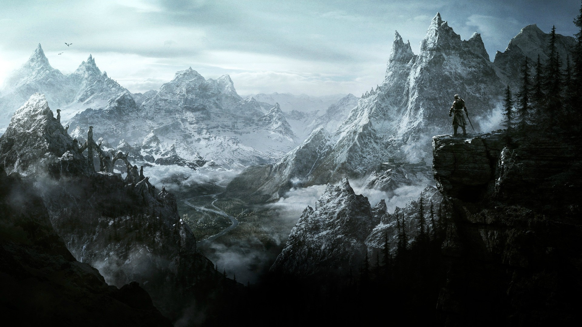 1920x1080 Skyrim Game